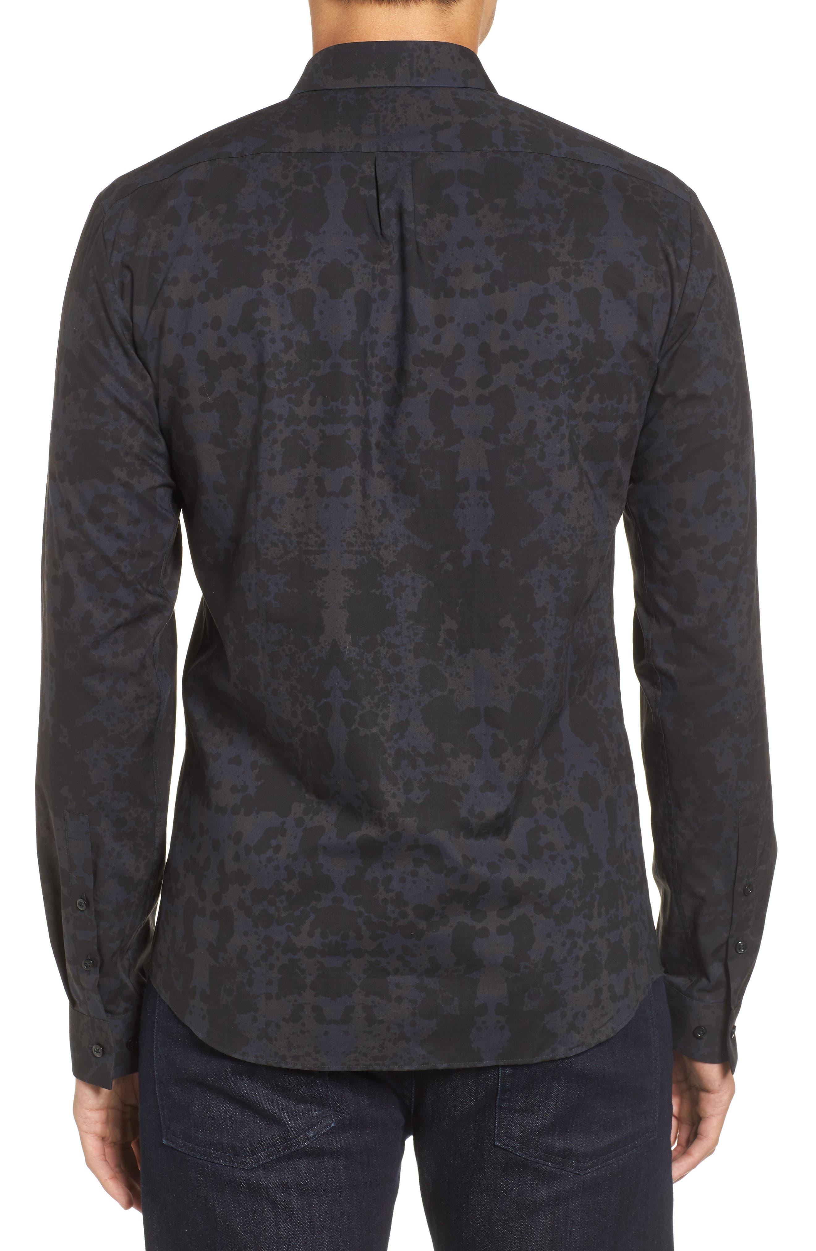 HUGO Ero Slim Fit Print Sport Shirt,                             Alternate thumbnail 2, color,