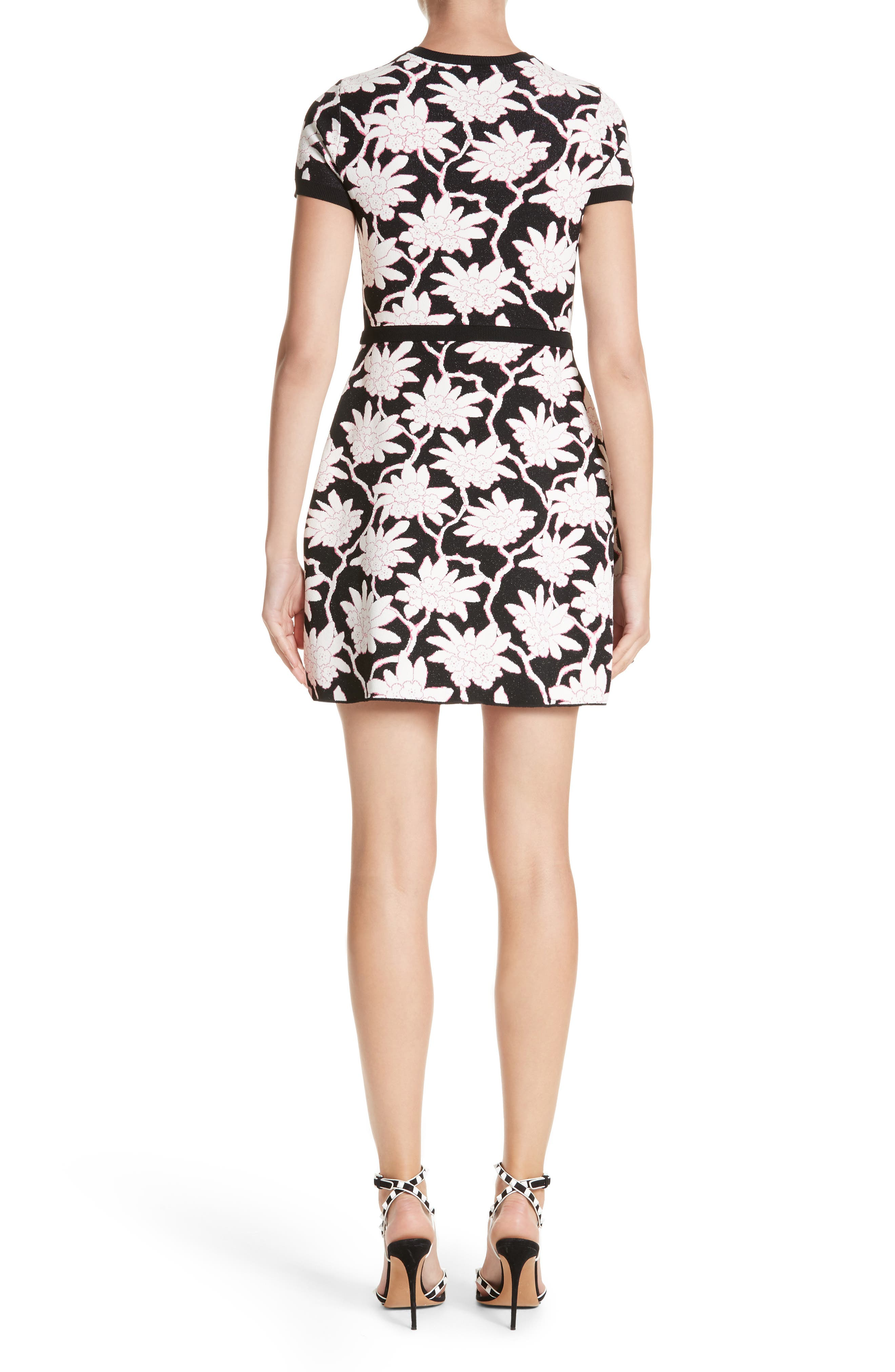 Rhododendron Jacquard Dress,                             Alternate thumbnail 2, color,                             001