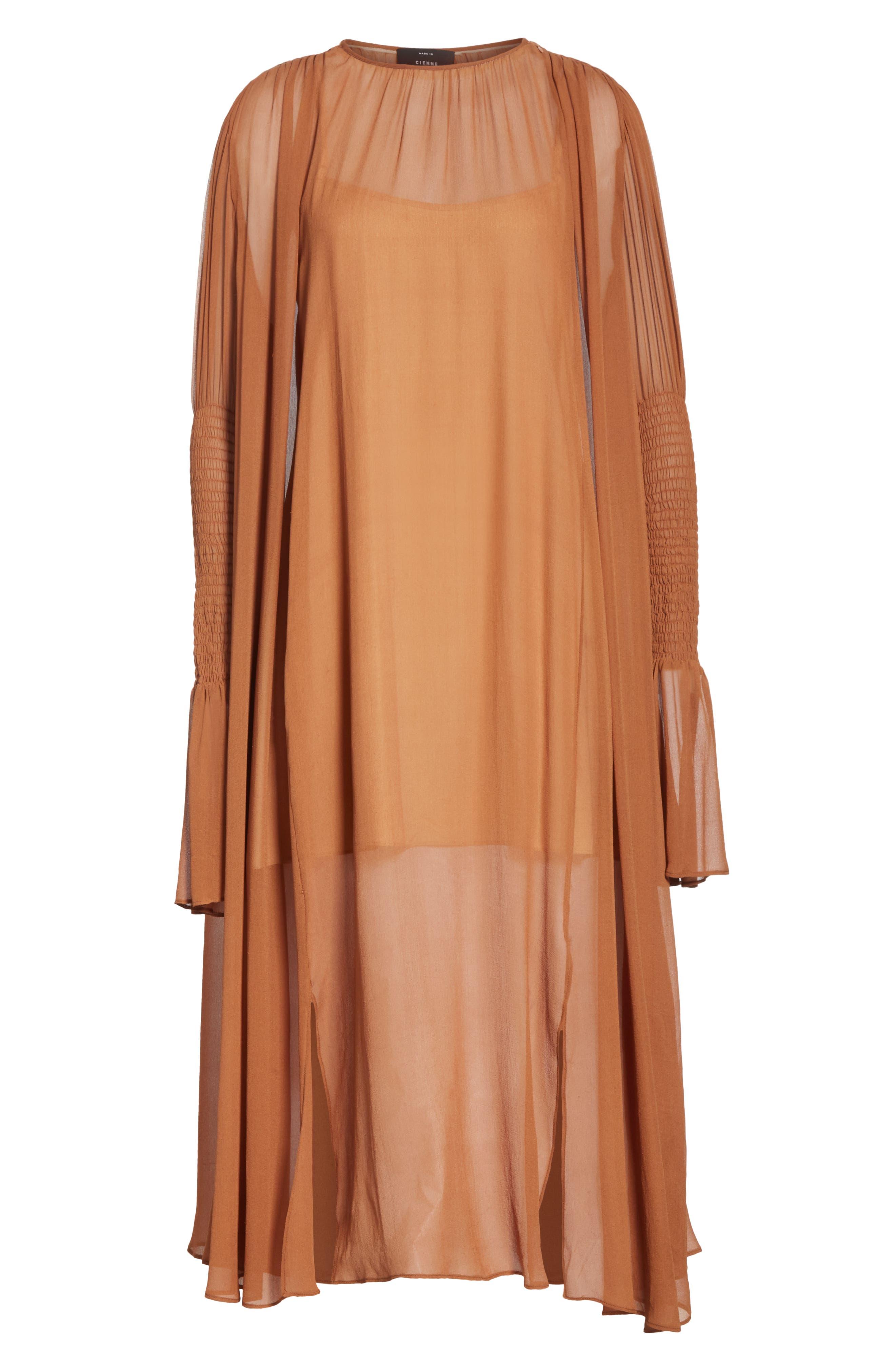 CIENNE,                             The Costa Silk Dress,                             Alternate thumbnail 6, color,                             200