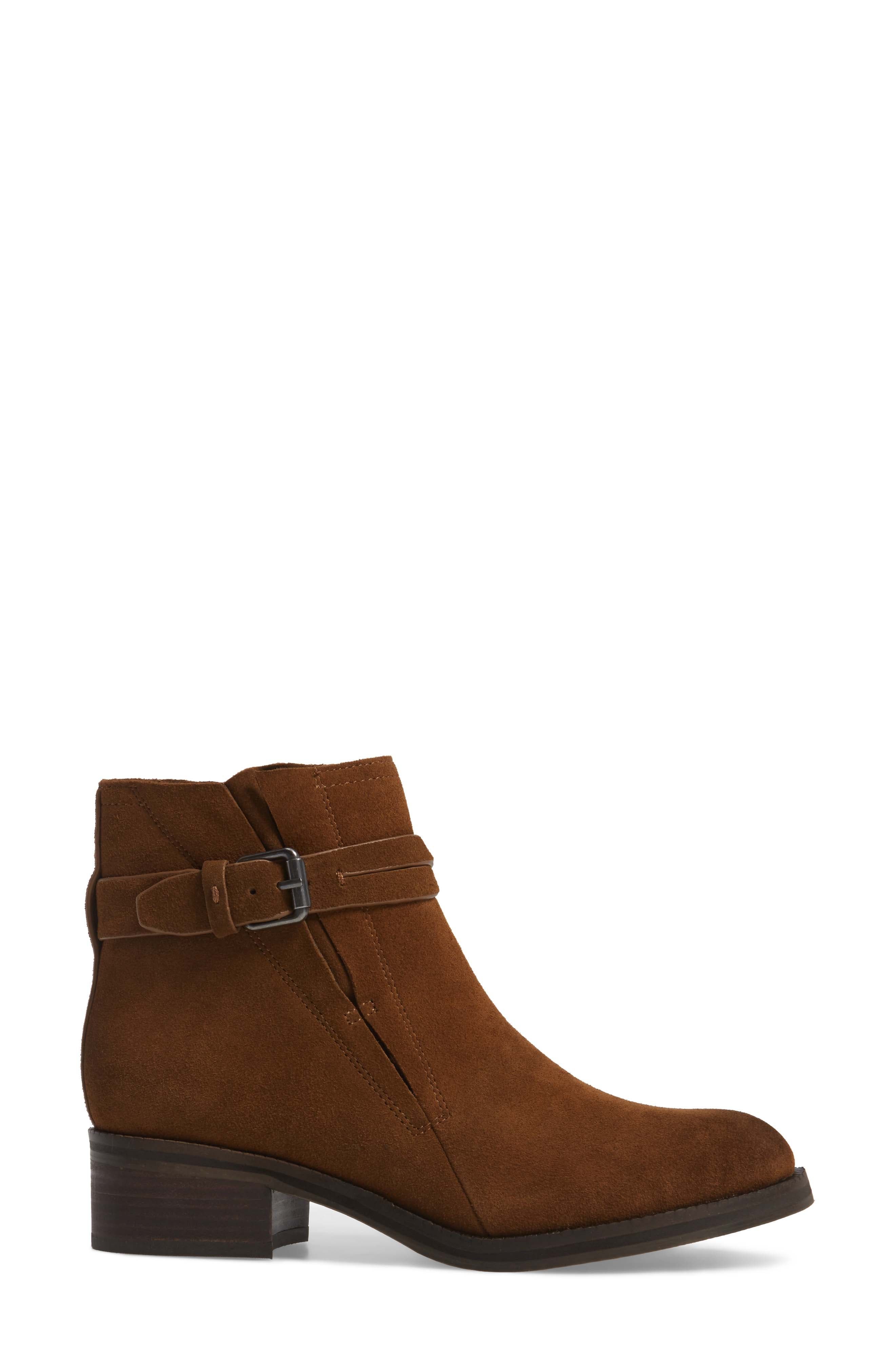 by Kenneth Cole Percy Bootie,                             Alternate thumbnail 3, color,                             WALNUT SUEDE