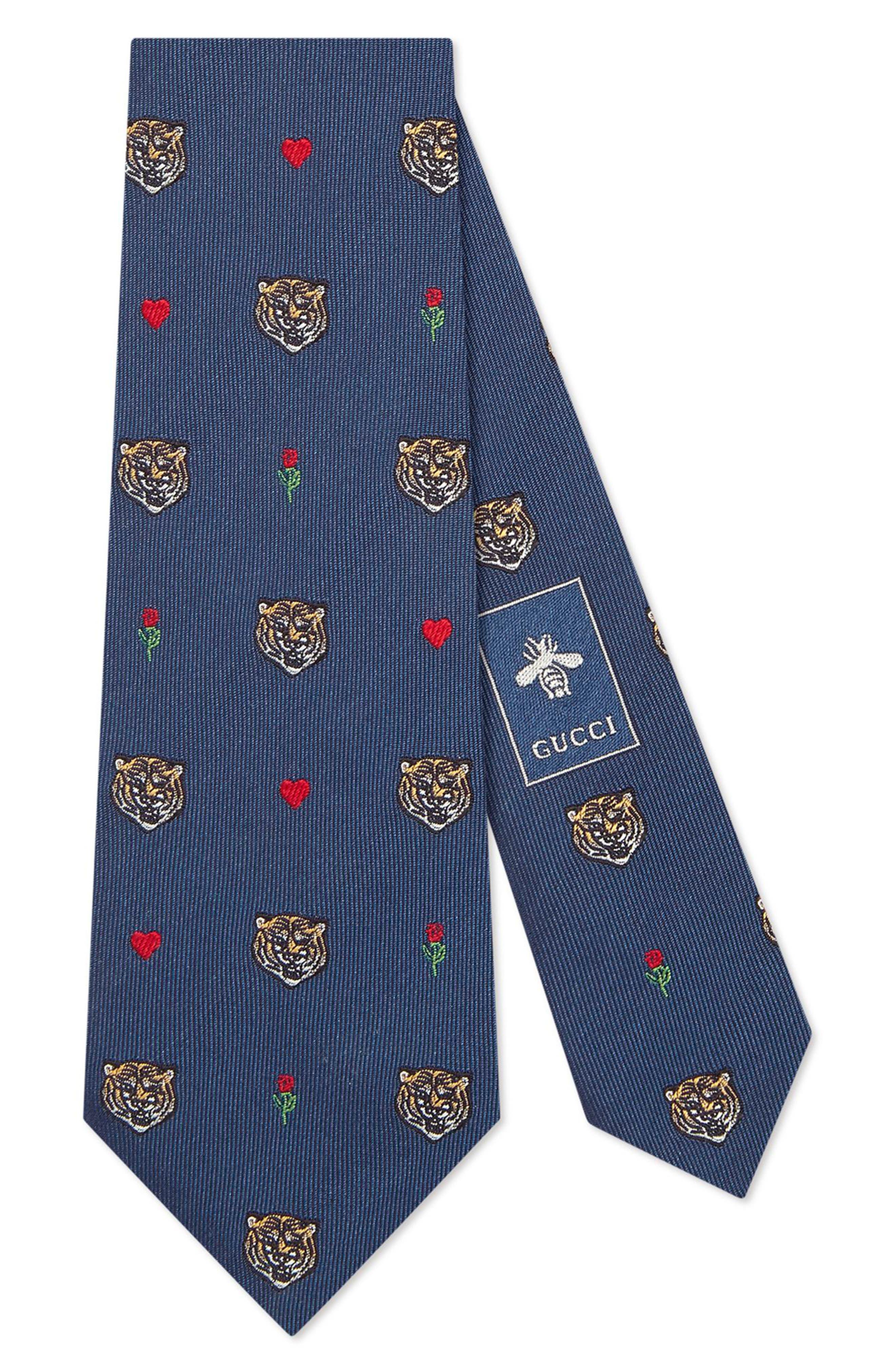 Tigerheart Silk Tie,                         Main,                         color, 412