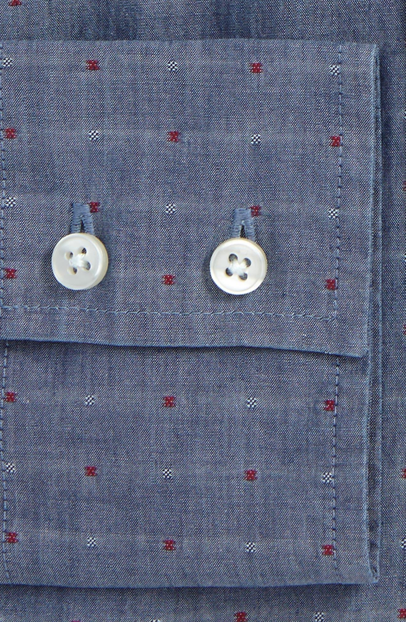 Trim Fit Dot Dress Shirt,                             Alternate thumbnail 2, color,                             529
