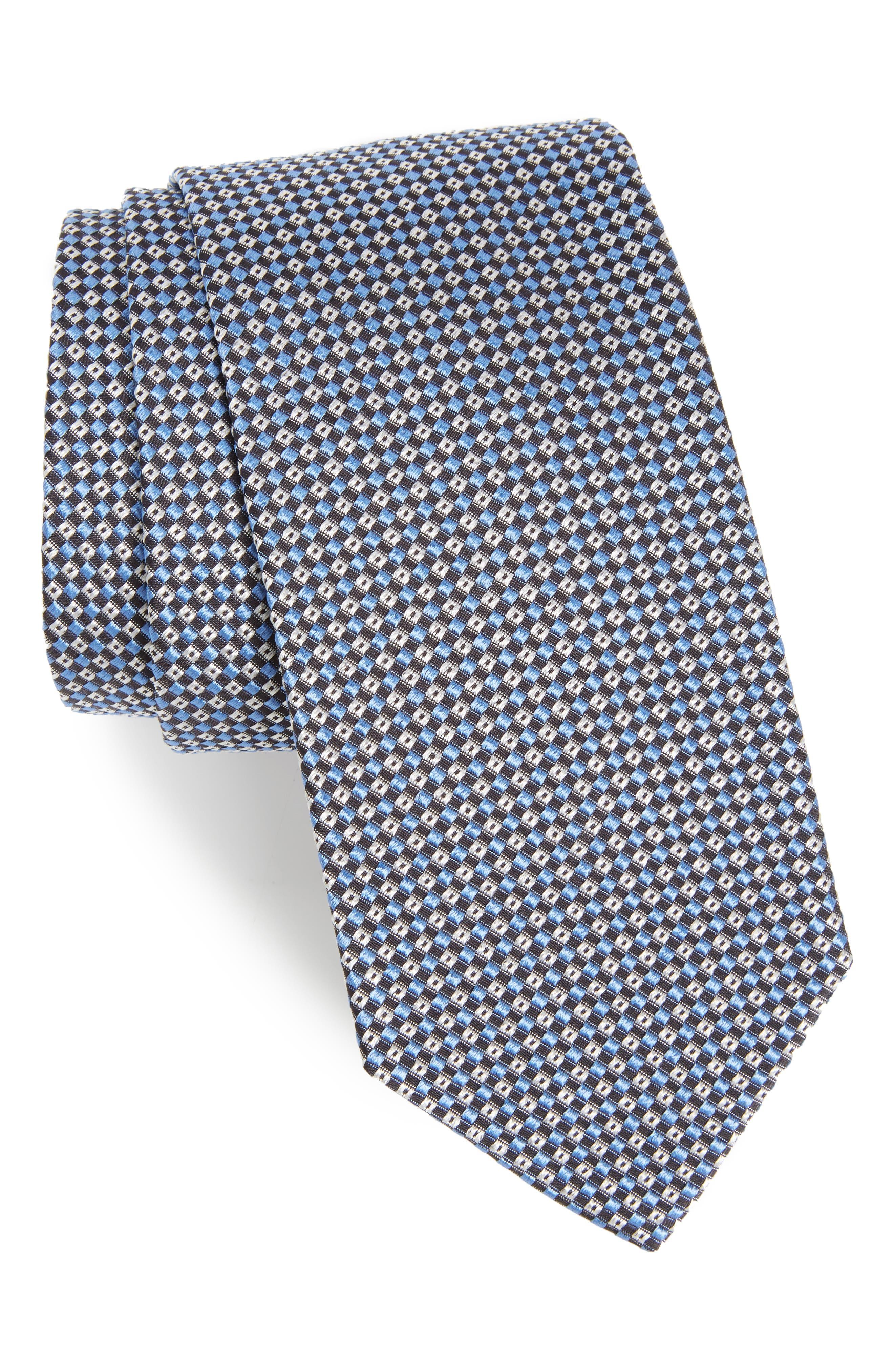 Geometric Silk Tie,                         Main,                         color, 430