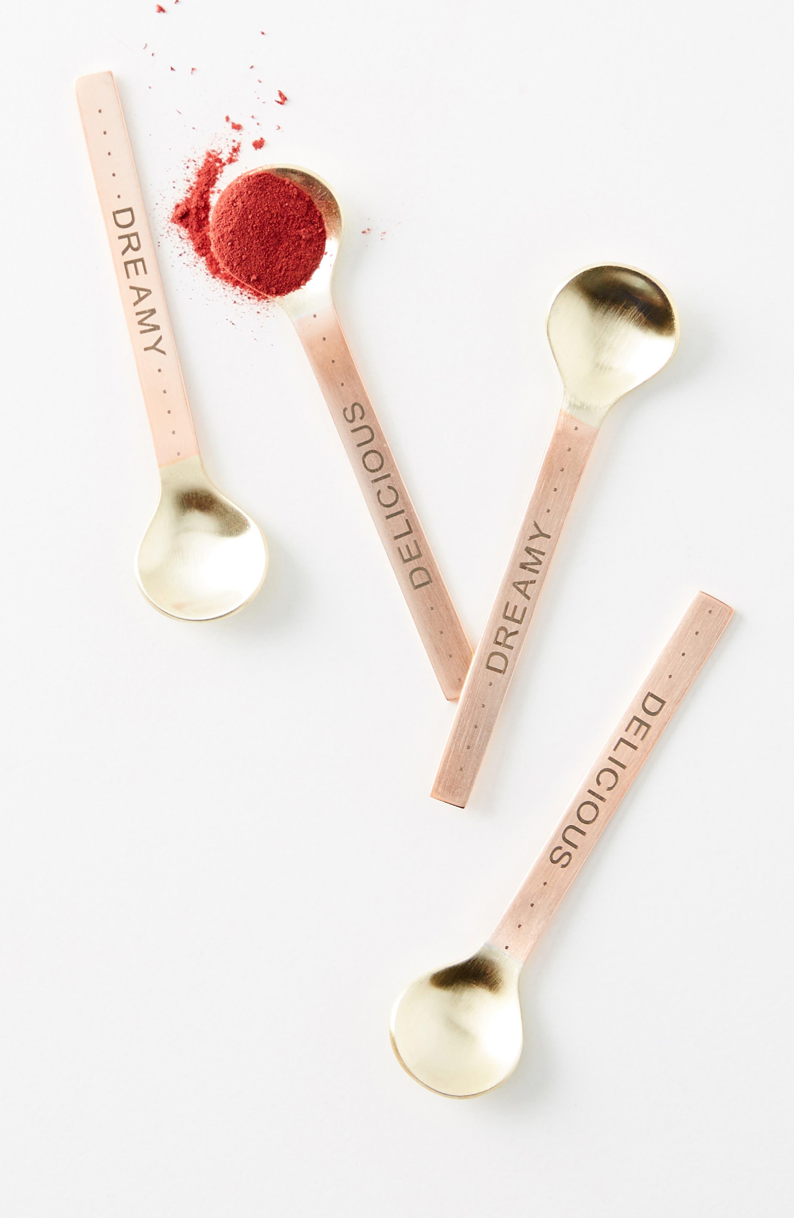 Albertina Set of 4 Condiment Spoons,                             Main thumbnail 1, color,                             220