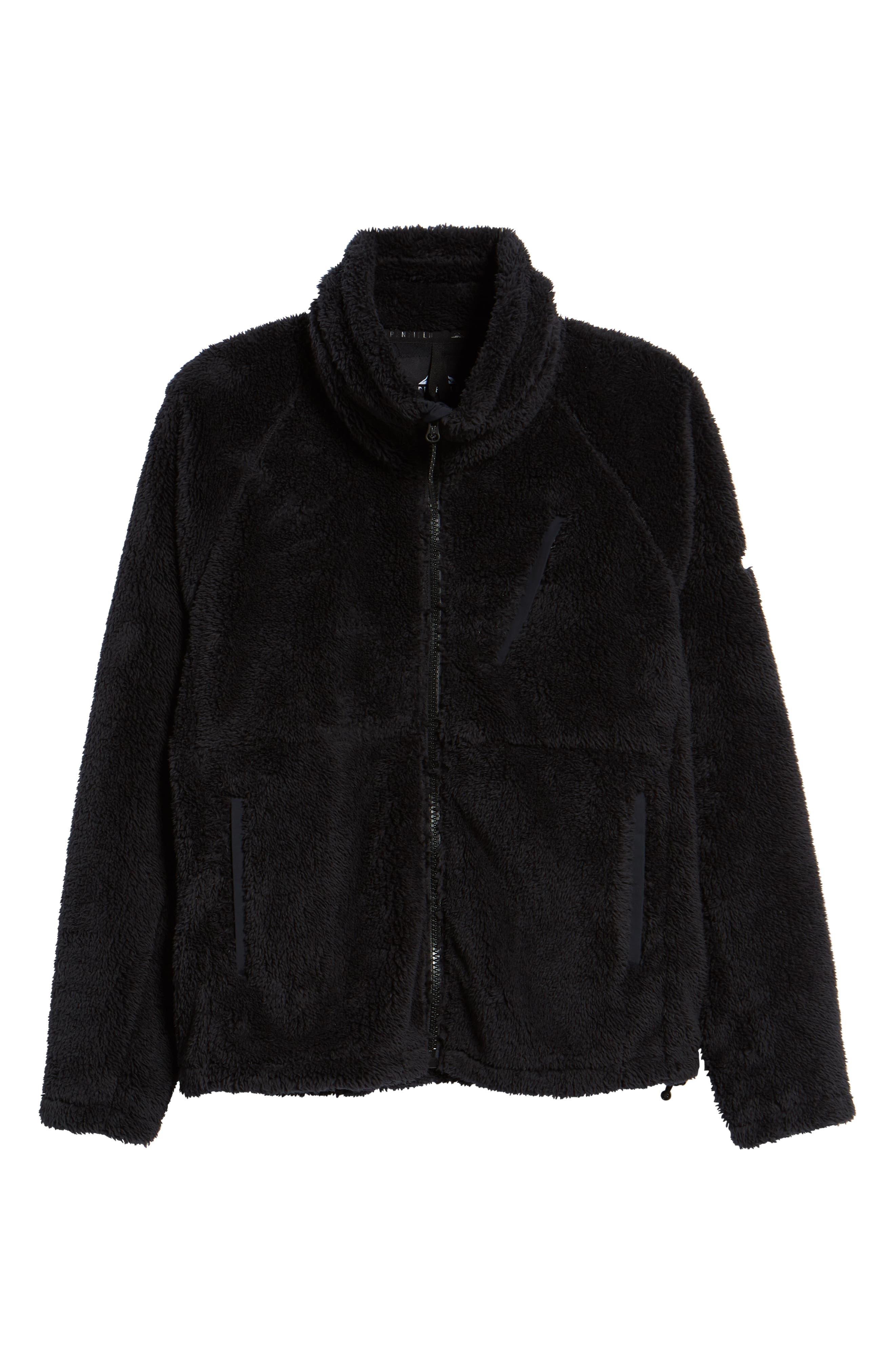 Breakheart Zip Fleece Jacket,                             Alternate thumbnail 6, color,                             001