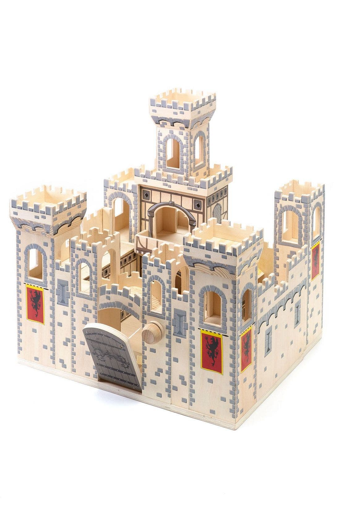 Wood Play Castle,                             Alternate thumbnail 4, color,                             MEDIEVAL