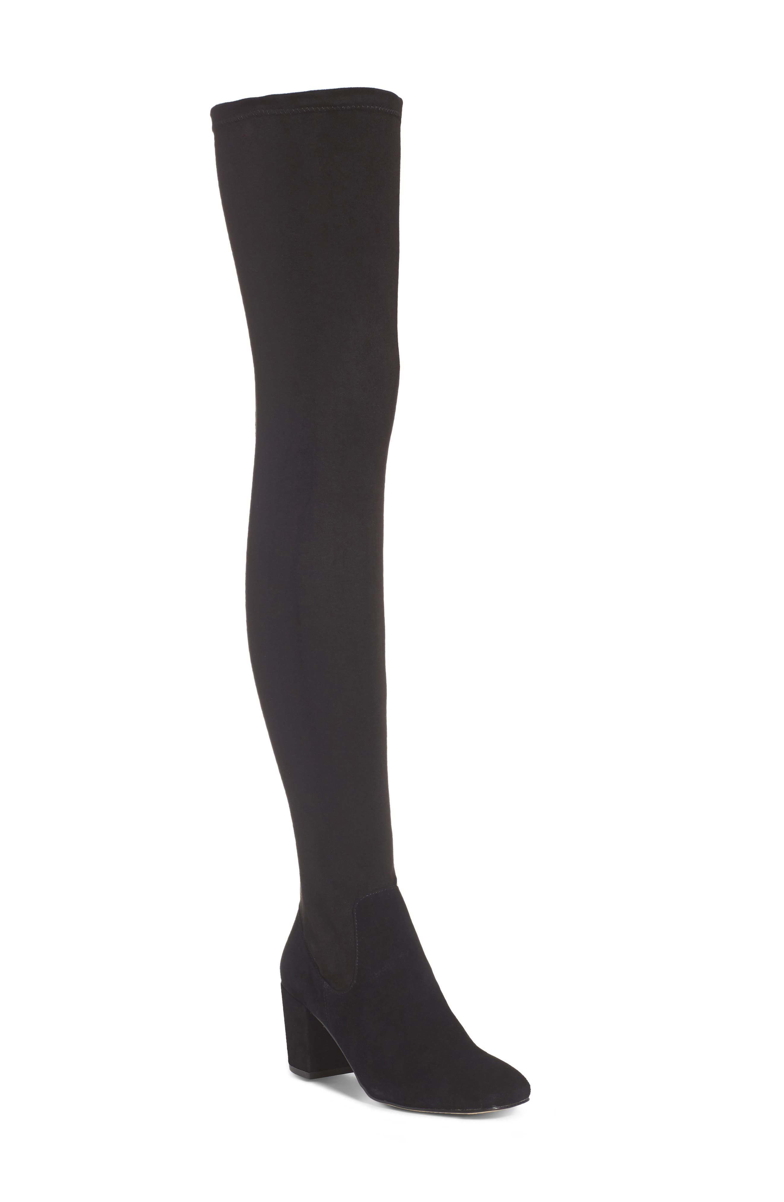 M4D3 Sobrina Over the Knee Boot,                             Main thumbnail 1, color,                             001