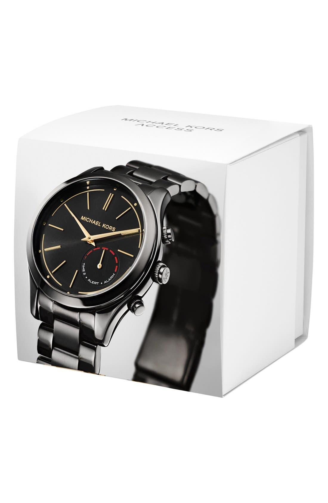 MICHAEL Michael Kors Slim Runway Smart Watch, 42mm,                             Alternate thumbnail 2, color,                             BLACK