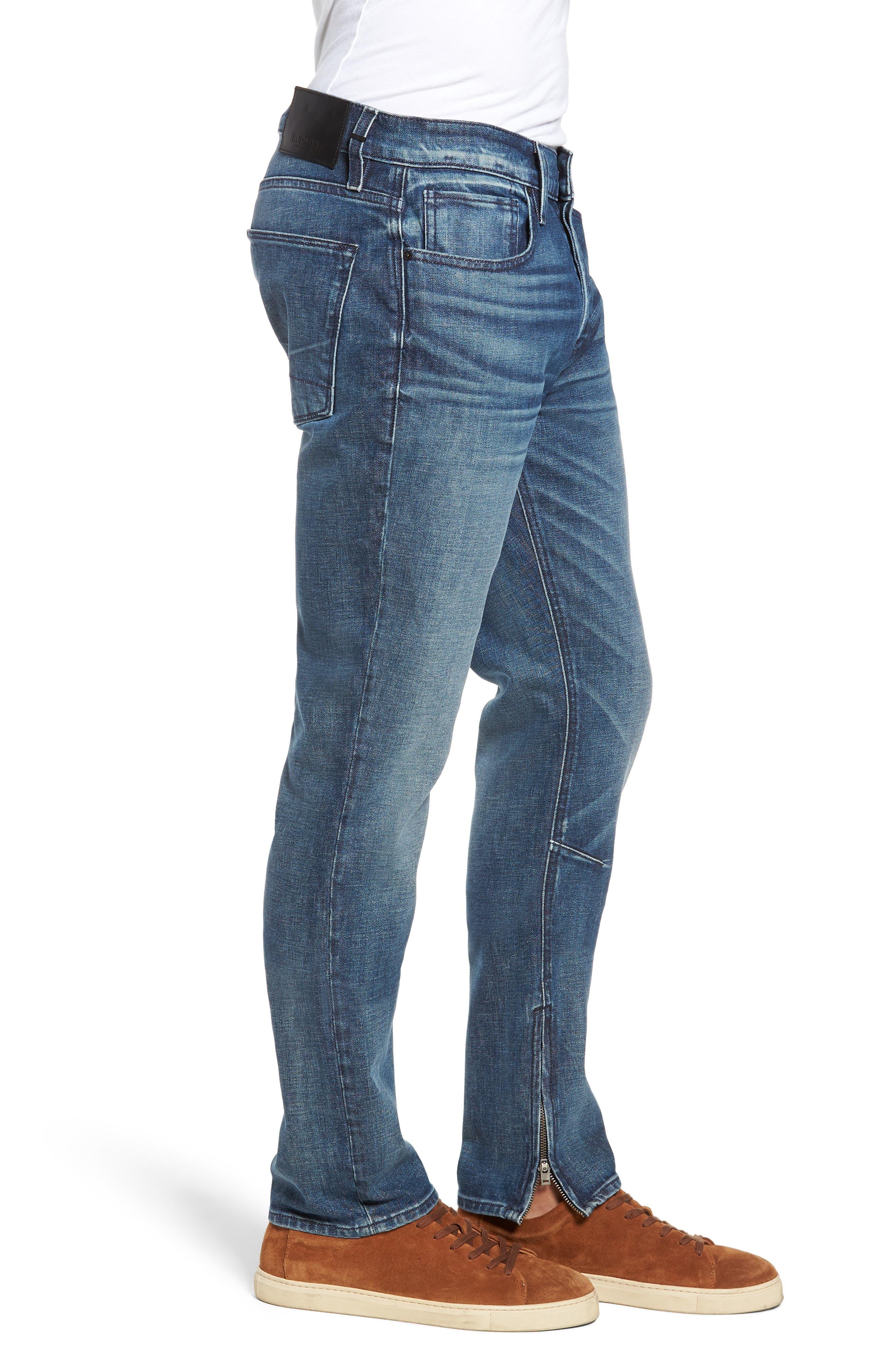 HUDSON JEANS,                             Vaughn Biker Skinny Fit Jeans,                             Alternate thumbnail 3, color,                             422