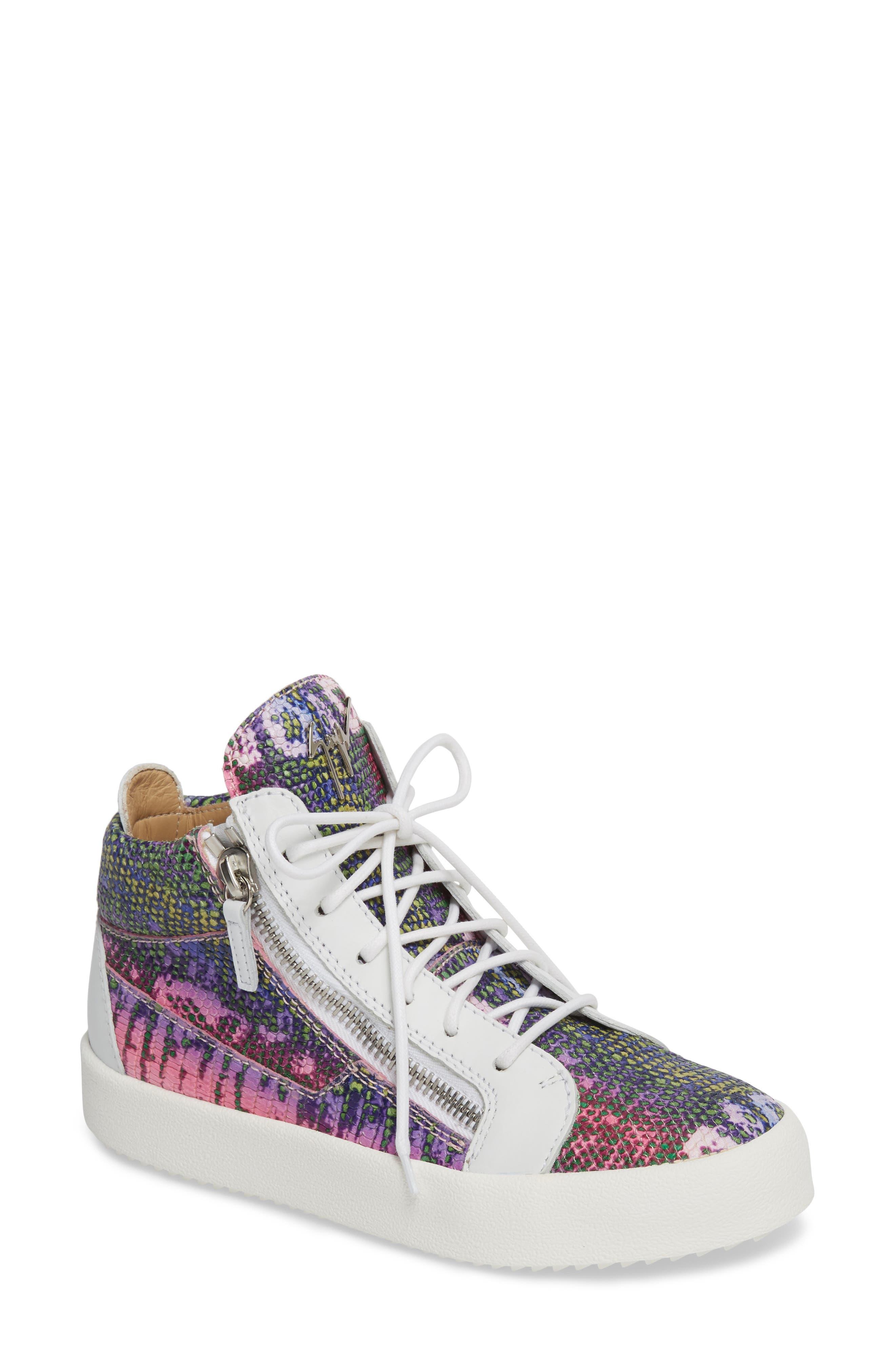 May London Mid Top Sneaker,                             Main thumbnail 1, color,                             PINK MULTI