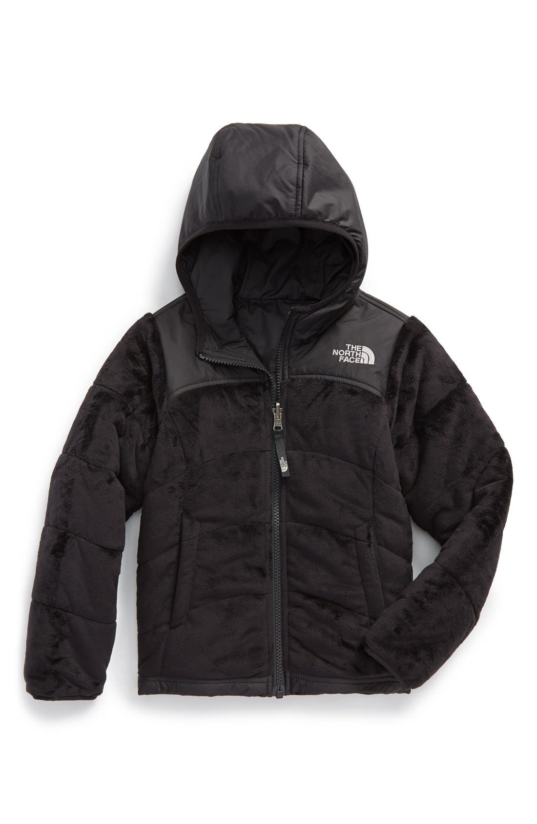 THE NORTH FACE 'Perseus' Water Repellent Heatseeker<sup>™</sup> Insulated Hooded Reversible Jacket, Main, color, 001