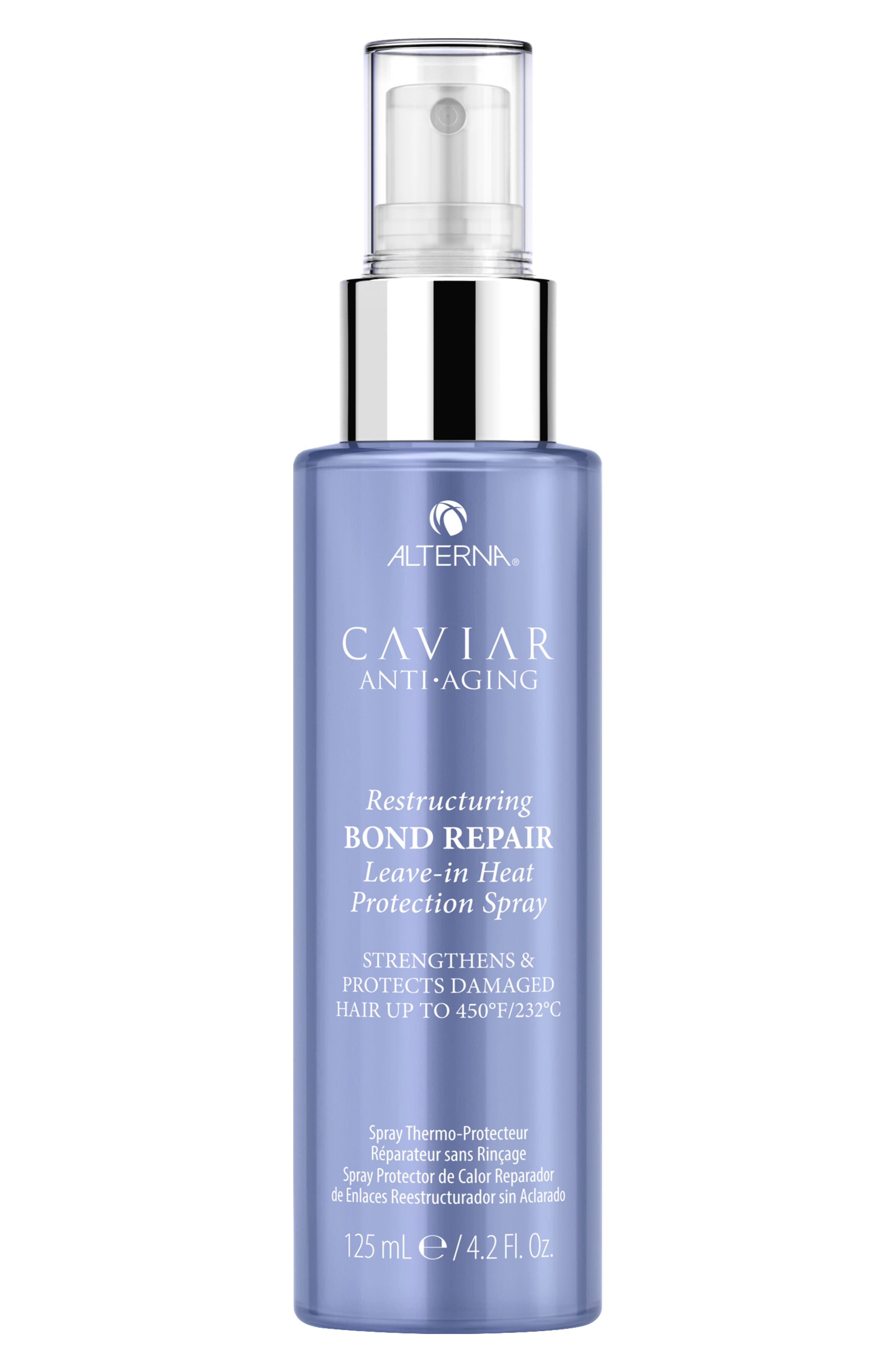 Caviar Anti-Aging Restructuring Bond Repair Leave-in Heat Protection Spray,                             Main thumbnail 1, color,                             000