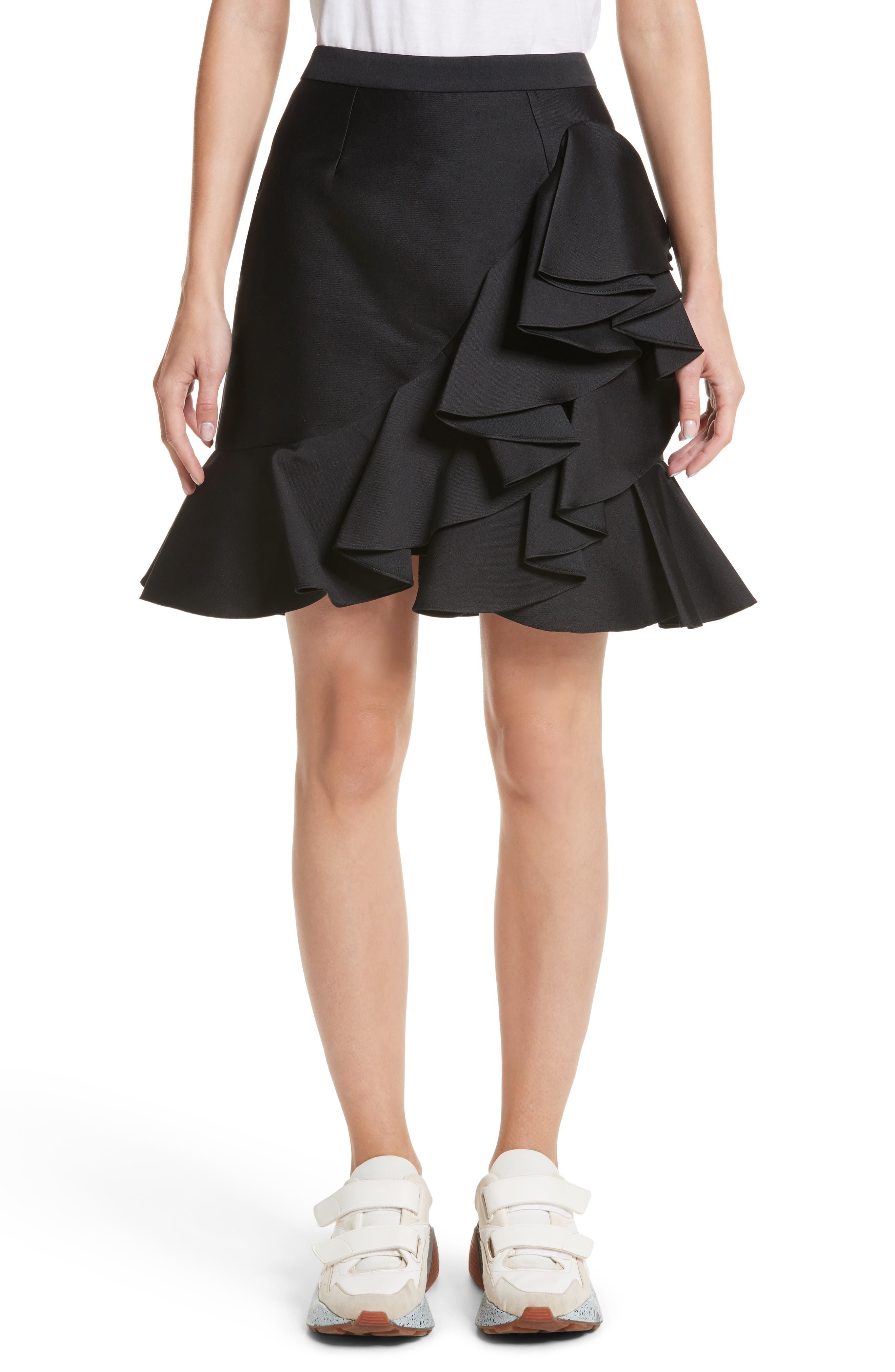 Ruffle Mini Skirt,                             Main thumbnail 1, color,