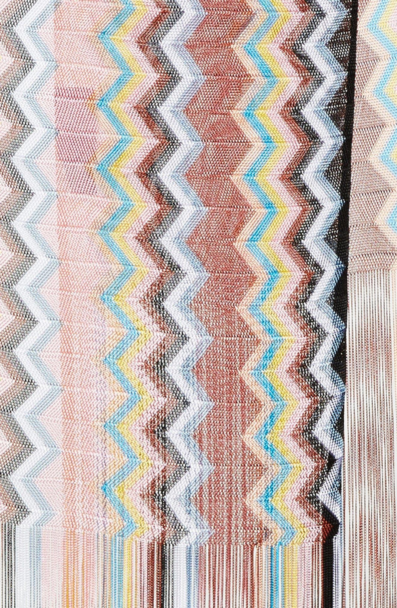 Long Zigzag Fringe Scarf,                             Alternate thumbnail 4, color,                             700