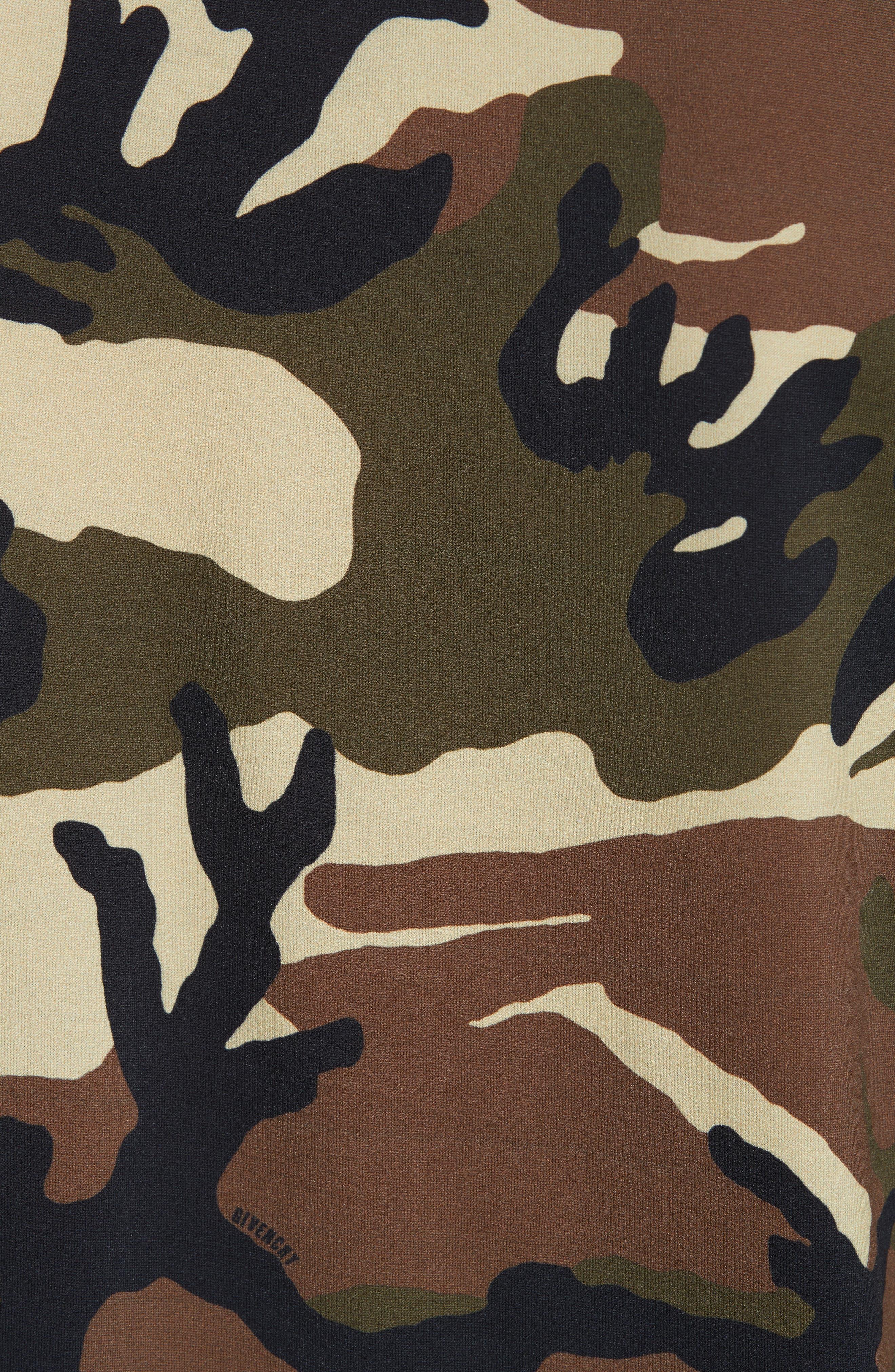 Extra Trim Fit Camo Print T-Shirt,                             Alternate thumbnail 5, color,                             305