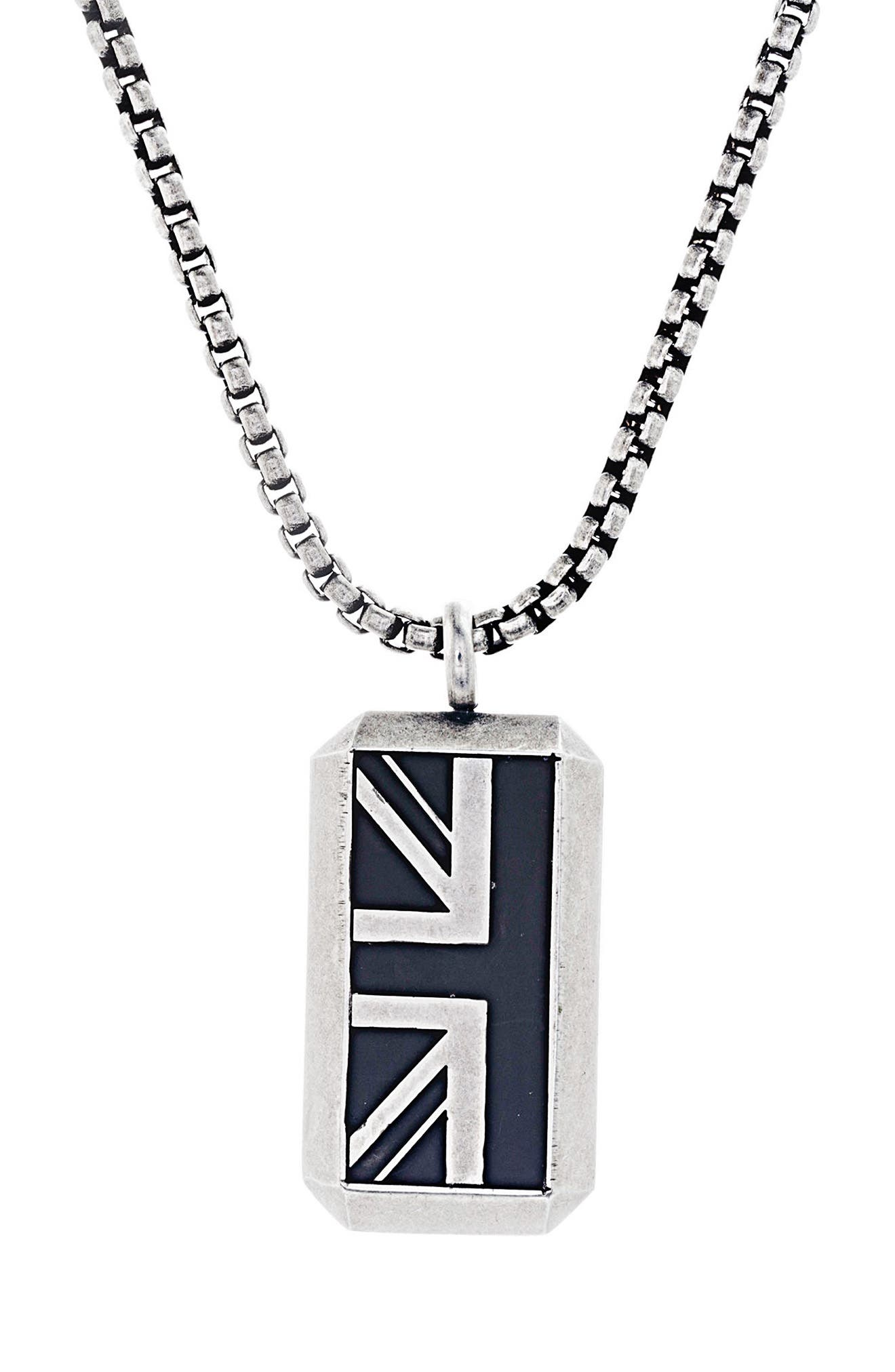 British Flag Necklace,                             Main thumbnail 1, color,