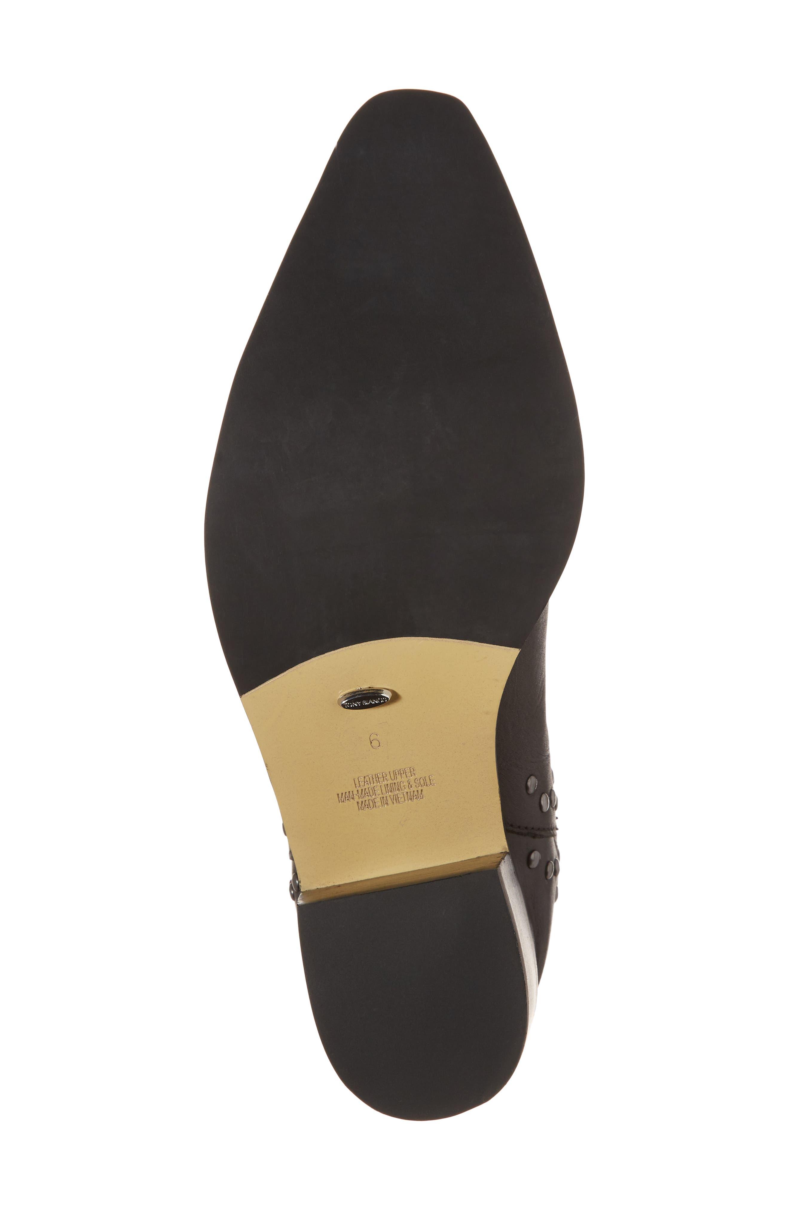 Simbai Western Boot,                             Alternate thumbnail 6, color,                             BLACK ALBANY LEATHER