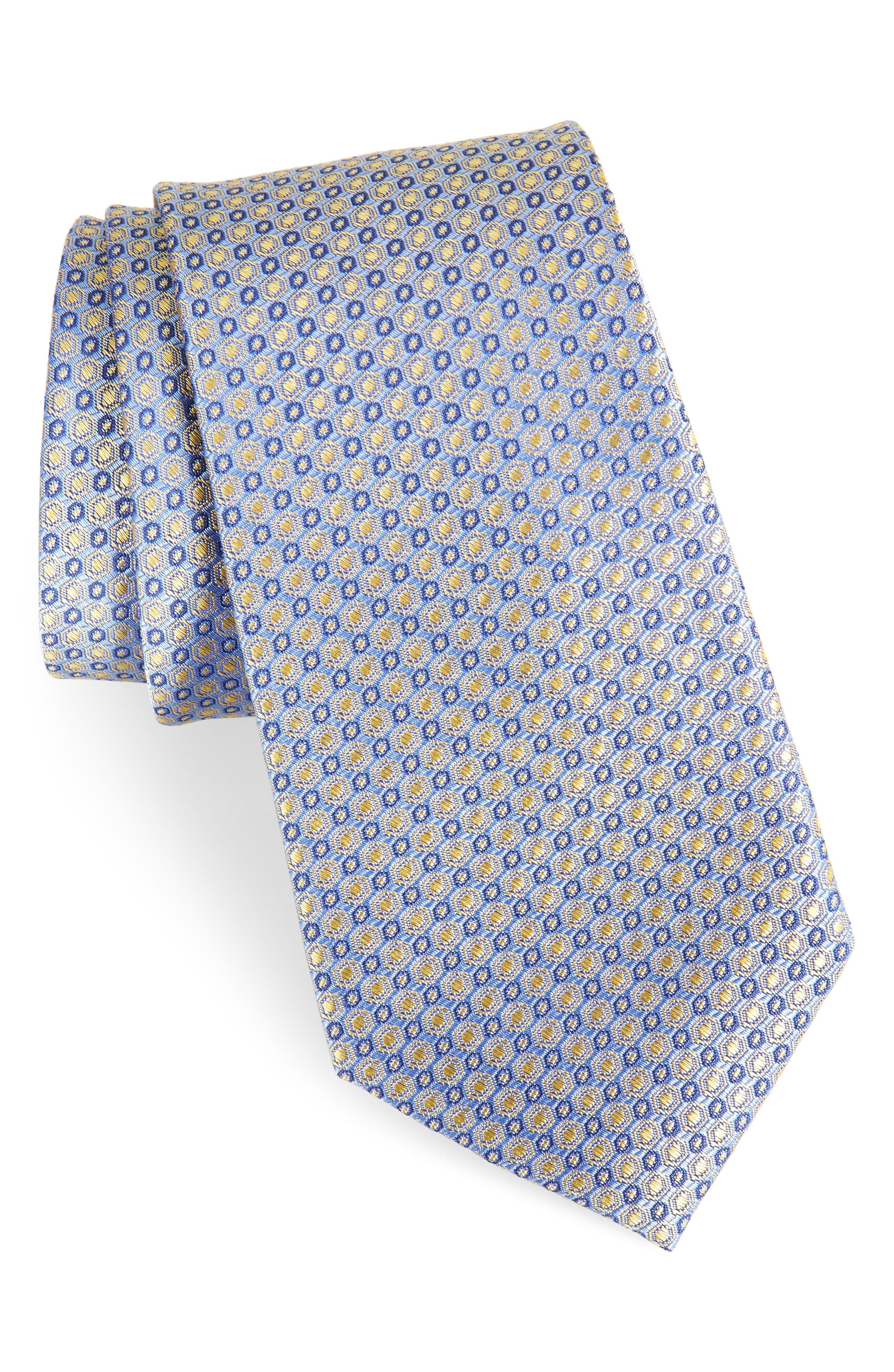 Optical Dot Silk Tie,                             Main thumbnail 4, color,