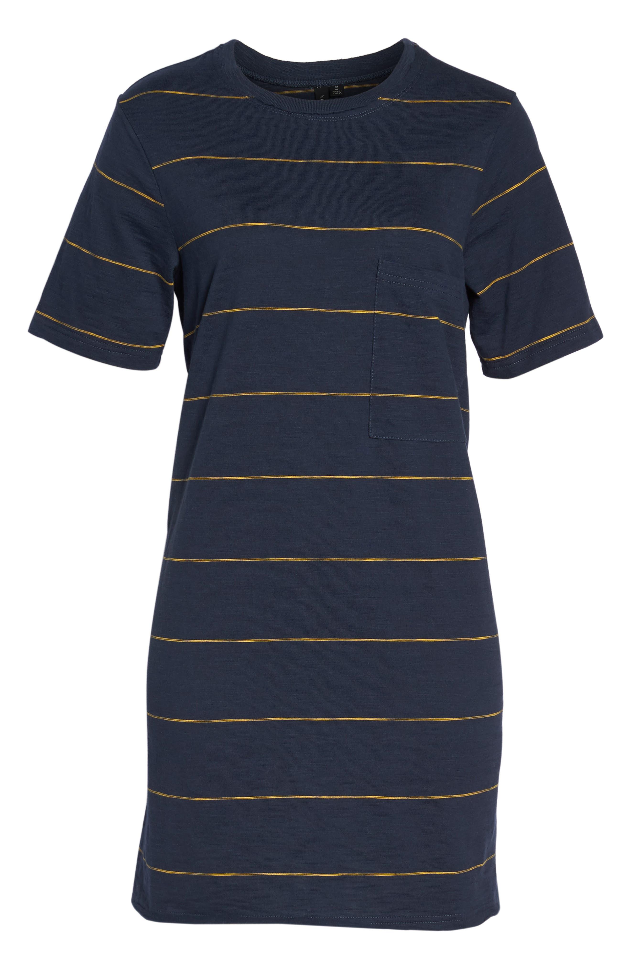 Sunset Stripe T-Shirt Dress,                             Alternate thumbnail 7, color,