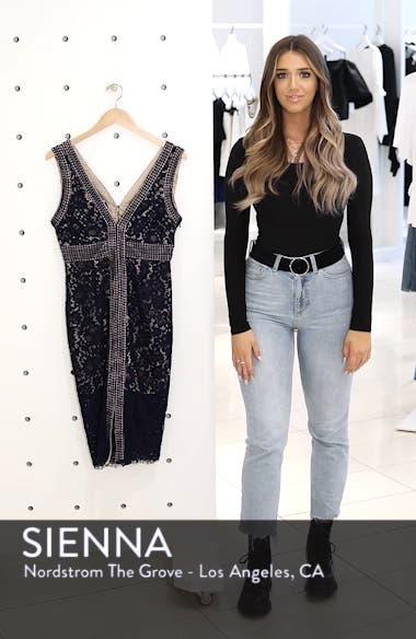 Morgan Front Slit Lace Sheath Dress, sales video thumbnail