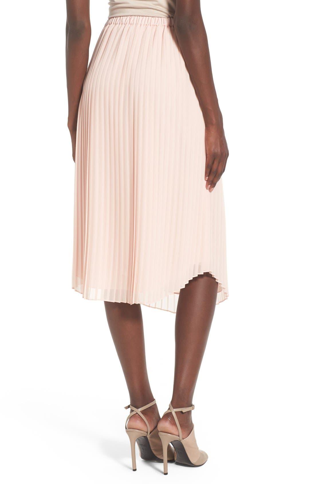 CHELSEA28,                             Pleated Midi Skirt,                             Alternate thumbnail 5, color,                             680
