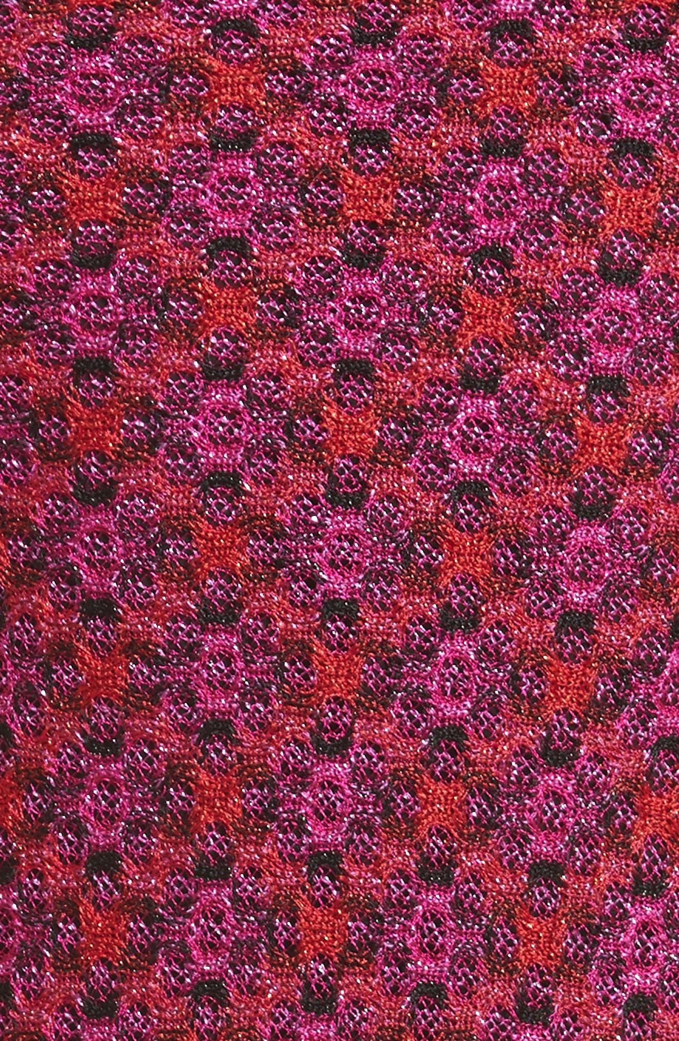 Metallic Zigzag Knit Dress,                             Alternate thumbnail 5, color,                             650