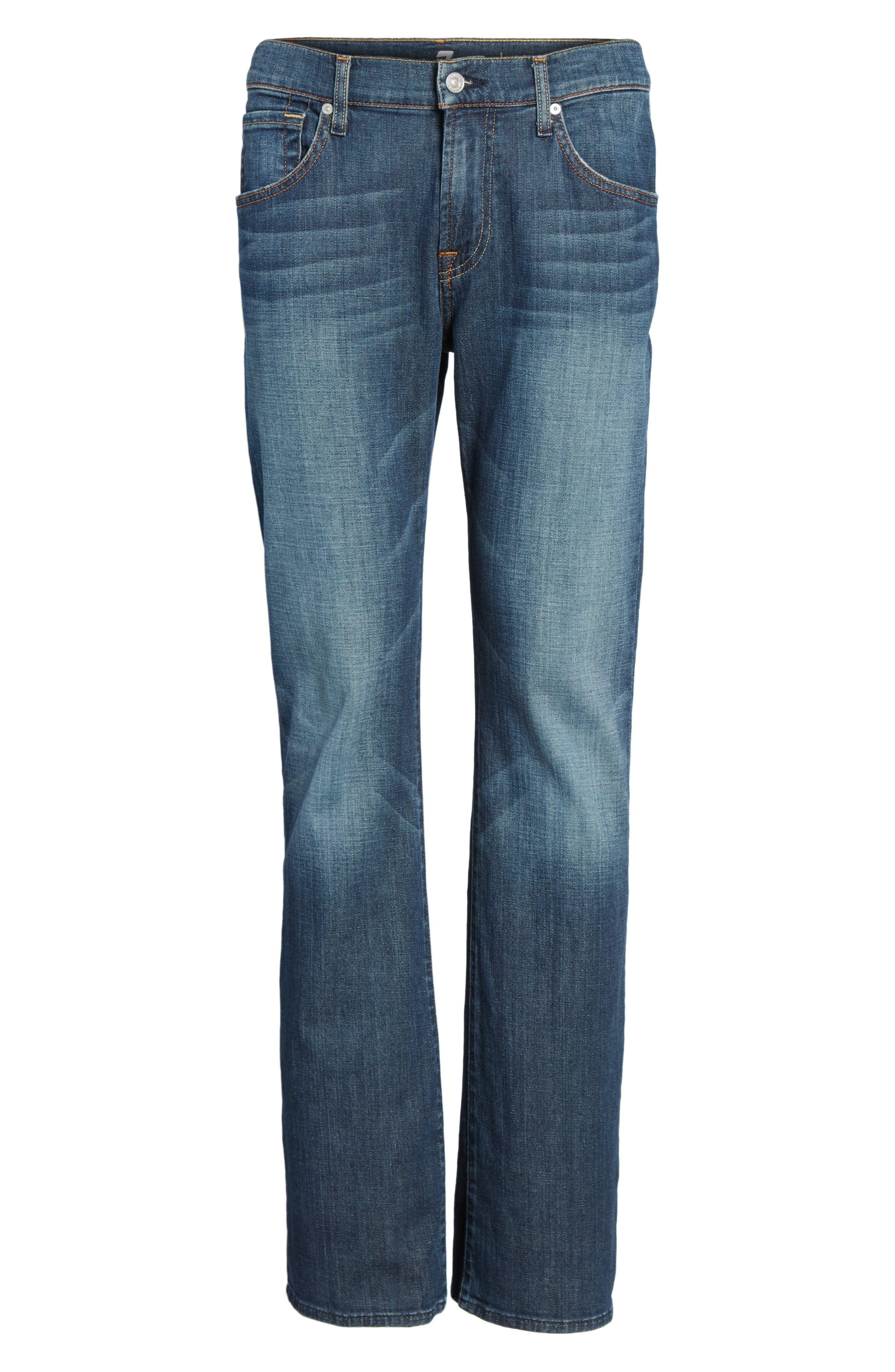 Brett Bootcut Jeans,                             Alternate thumbnail 6, color,                             DARK NEW YORK