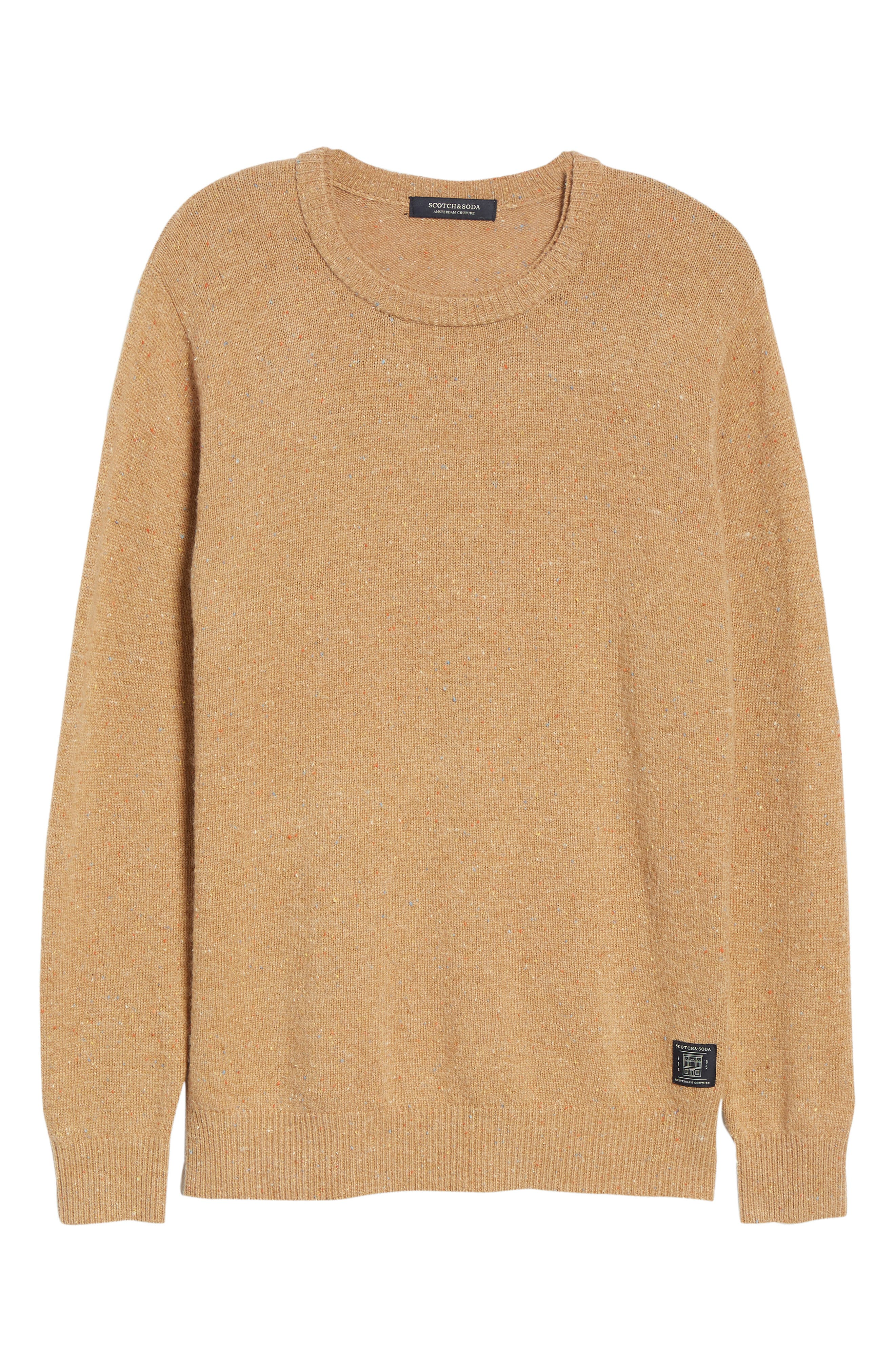 SCOTCH & SODA,                             Nepped Wool Blend Sweater,                             Alternate thumbnail 6, color,                             COMBO E