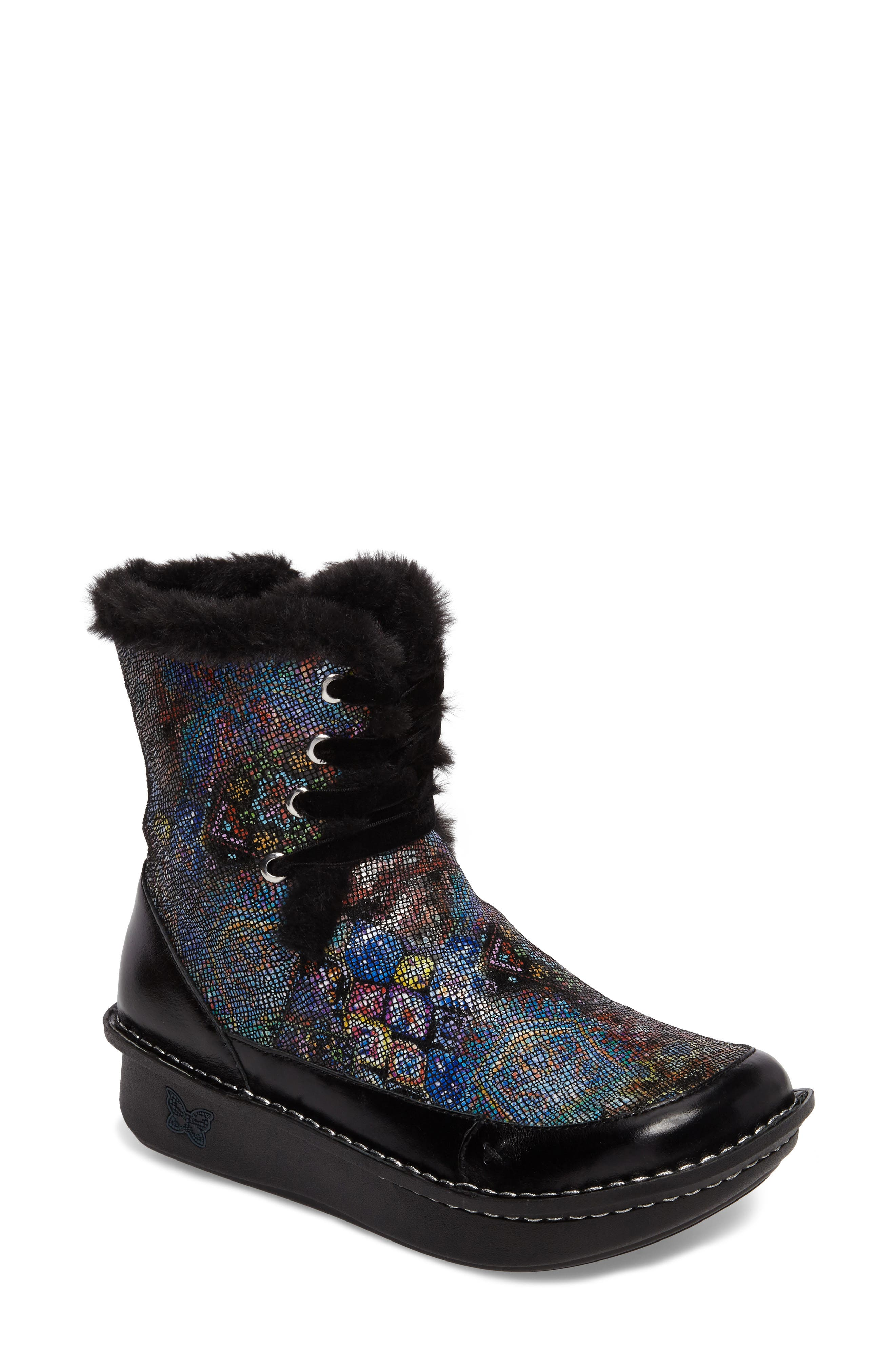 Twisp Lace-Up Boot with Faux Fur Lining,                             Main thumbnail 3, color,