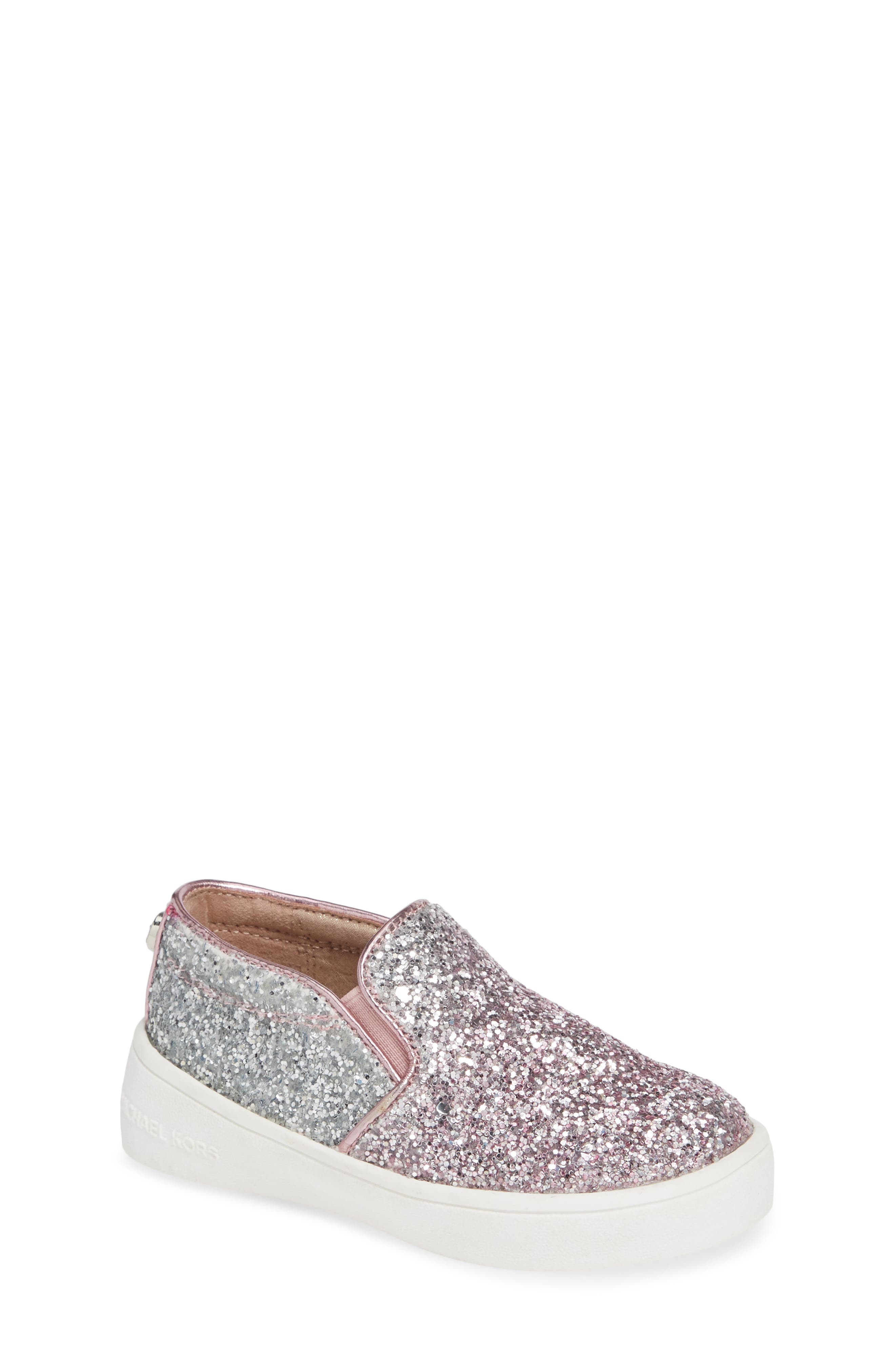 Ivy Ombré Glitter Slip-On Sneaker,                             Main thumbnail 1, color,                             PINK SILVER