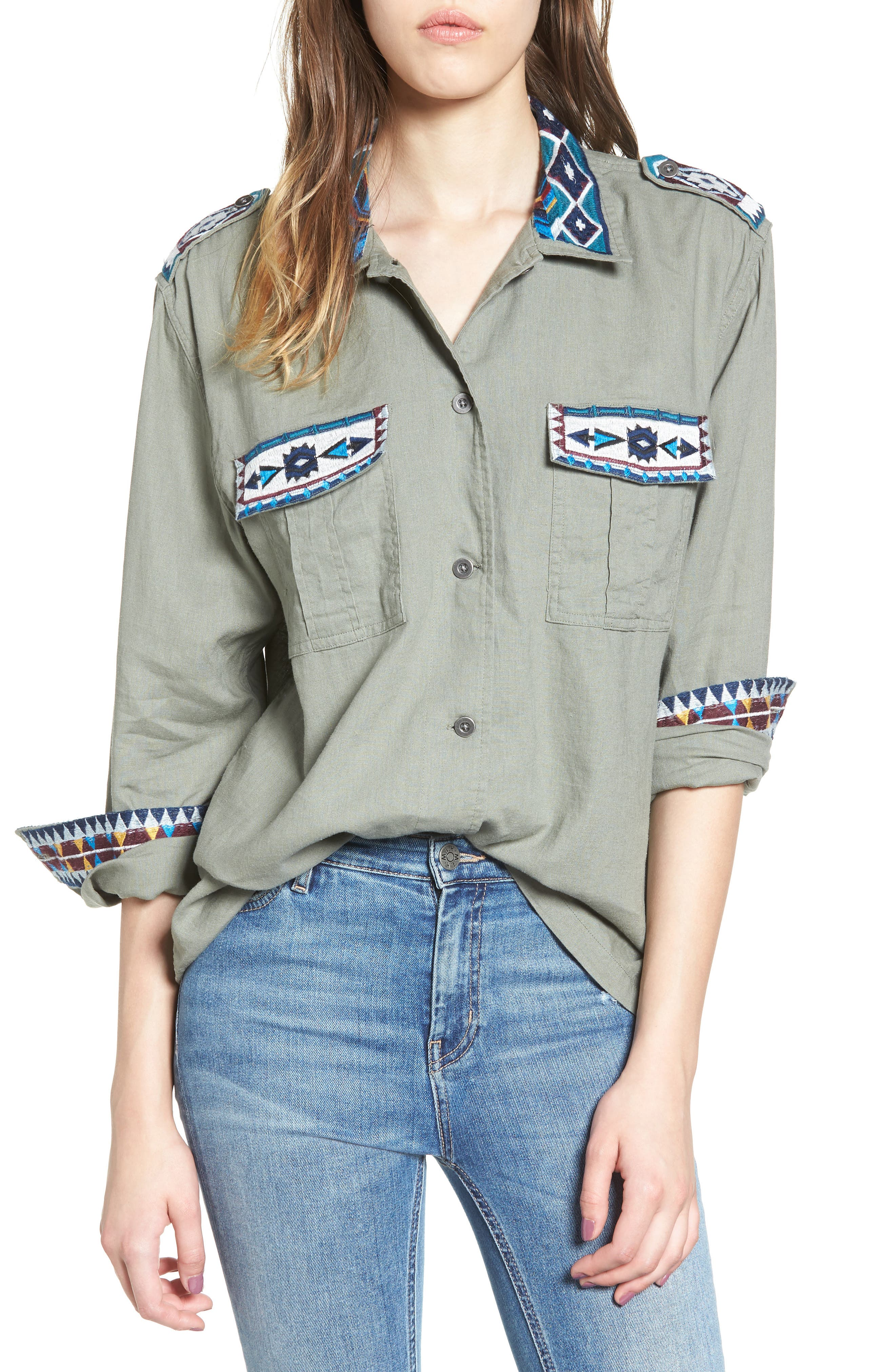 Kona Embroidered Shirt,                             Main thumbnail 1, color,                             320