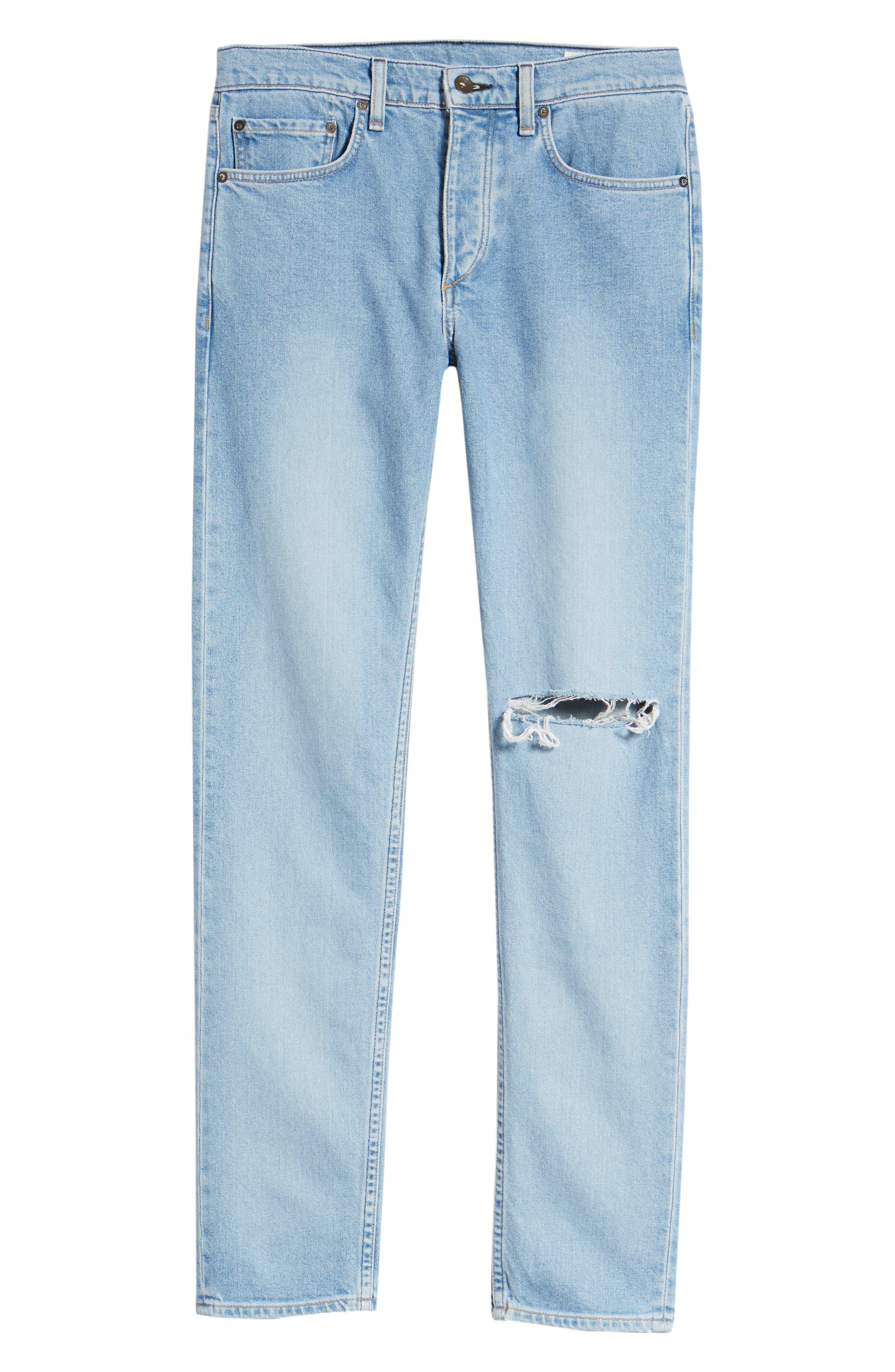 Fit 2 Slim Fit Jeans,                             Alternate thumbnail 6, color,                             MONTAUK W/ HOLE