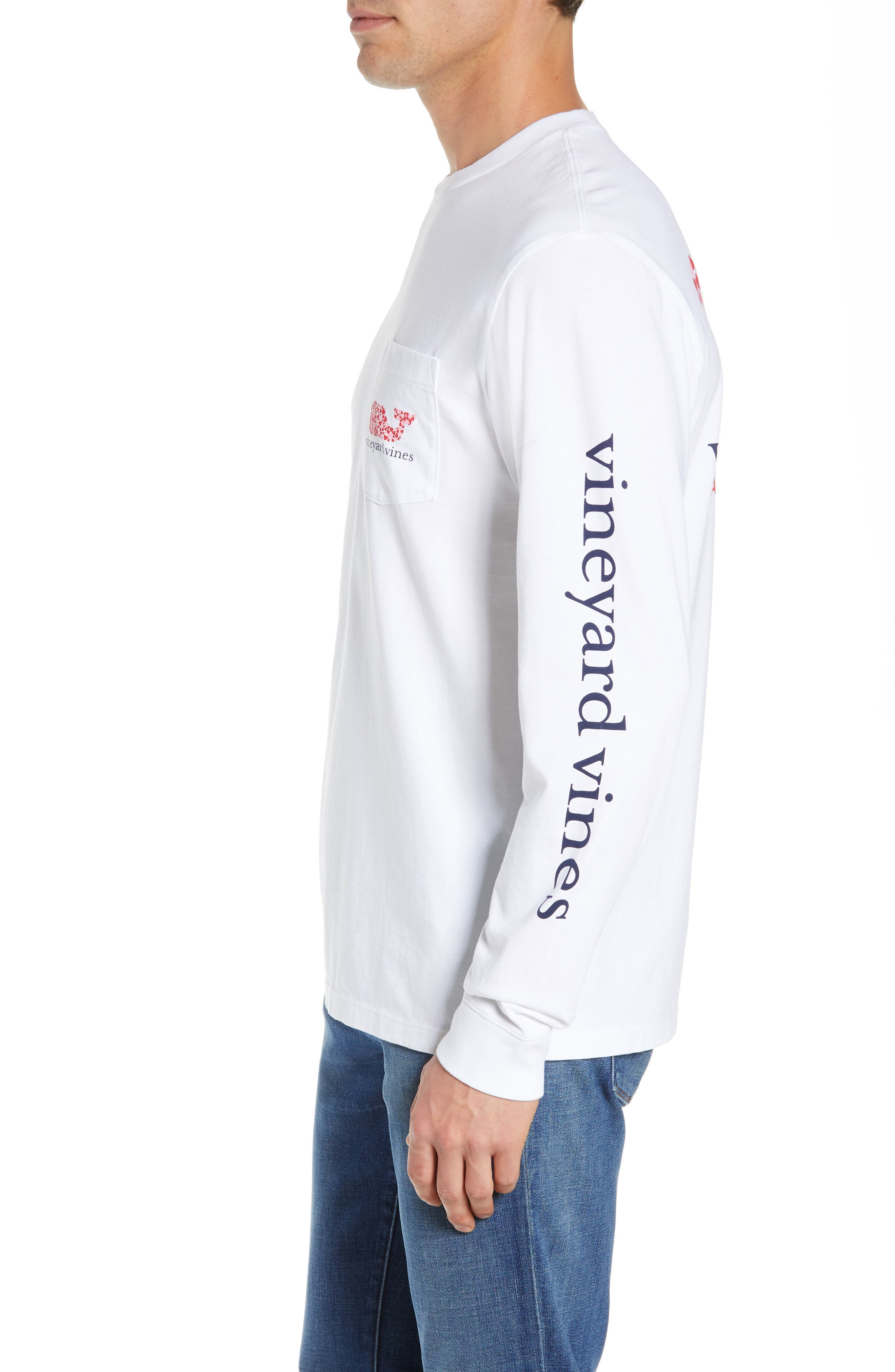VINEYARD VINES,                             Valentine's Day Pocket T-Shirt,                             Alternate thumbnail 3, color,                             WHITE CAP