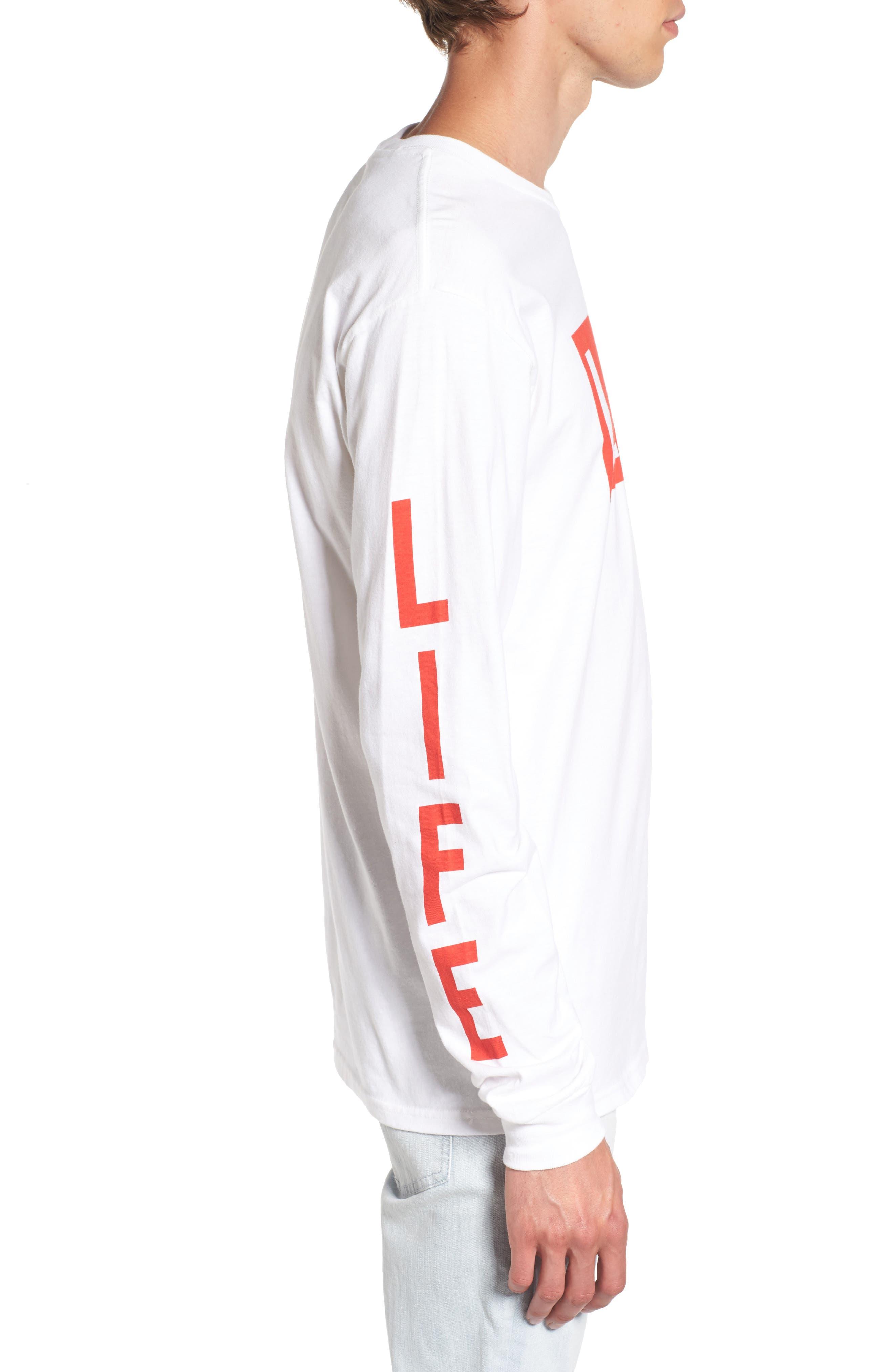 Life Logo Long Sleeve T-Shirt,                             Alternate thumbnail 3, color,                             100
