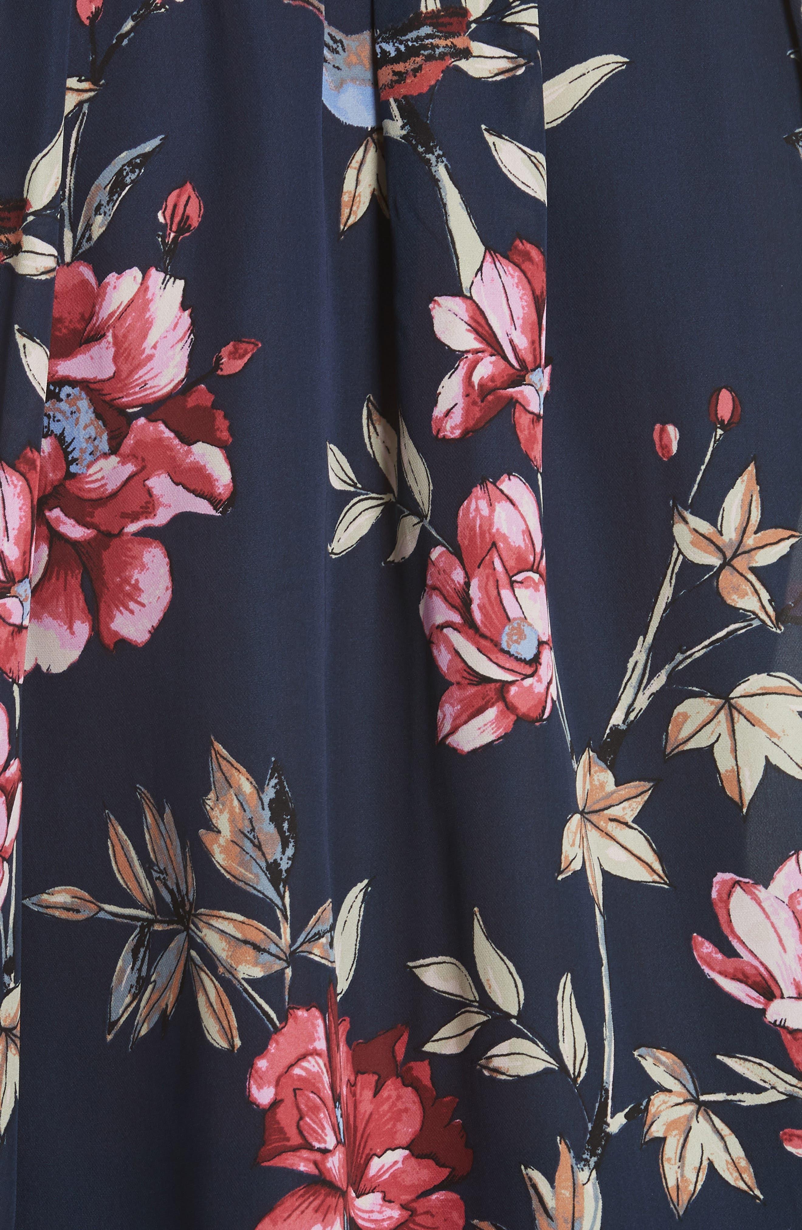 Corsen Floral Silk Blouse,                             Alternate thumbnail 5, color,                             410