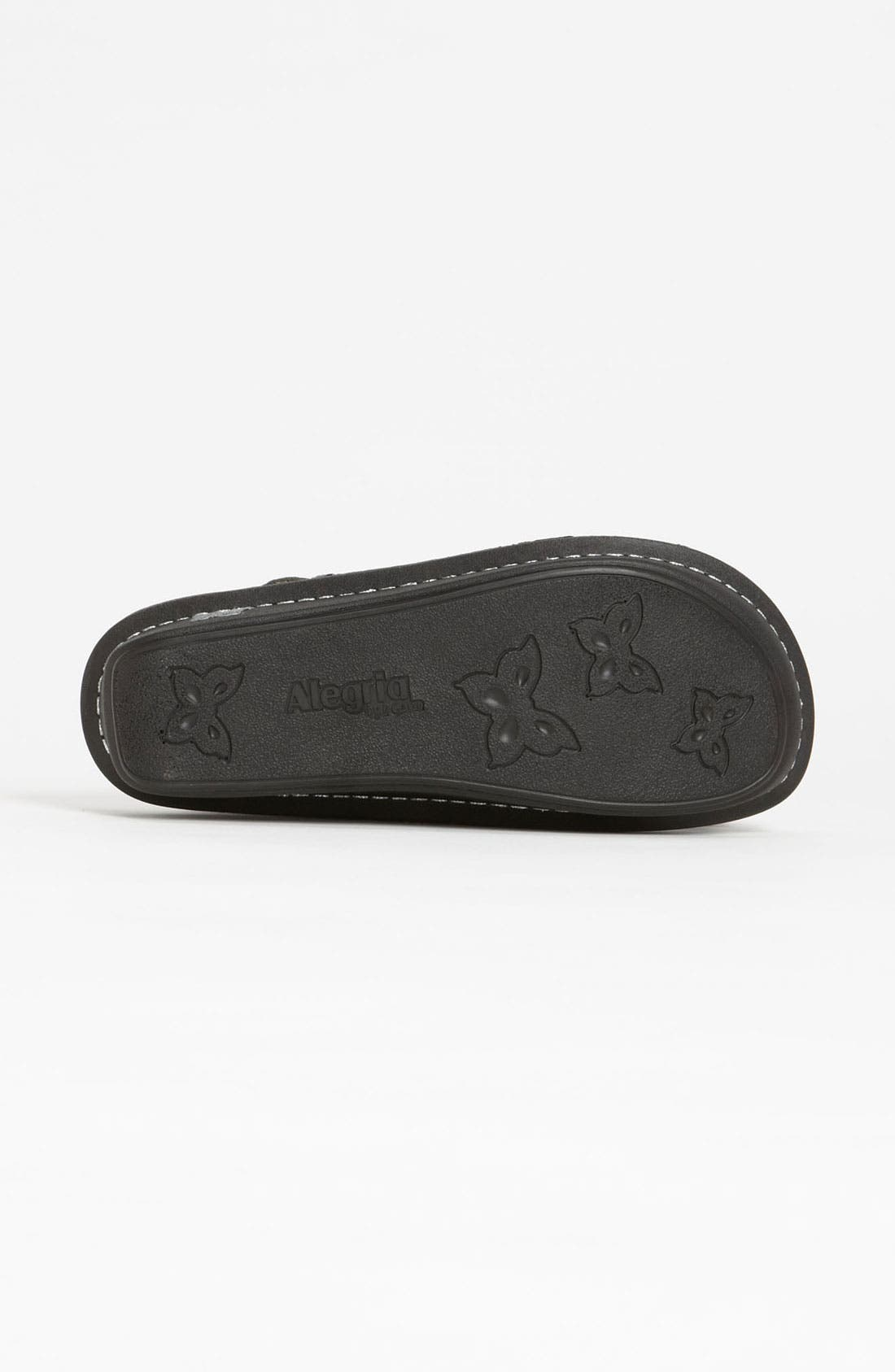 'Classic' Clog,                             Alternate thumbnail 5, color,                             BLACK EMBOSSED ROSE LEATHER