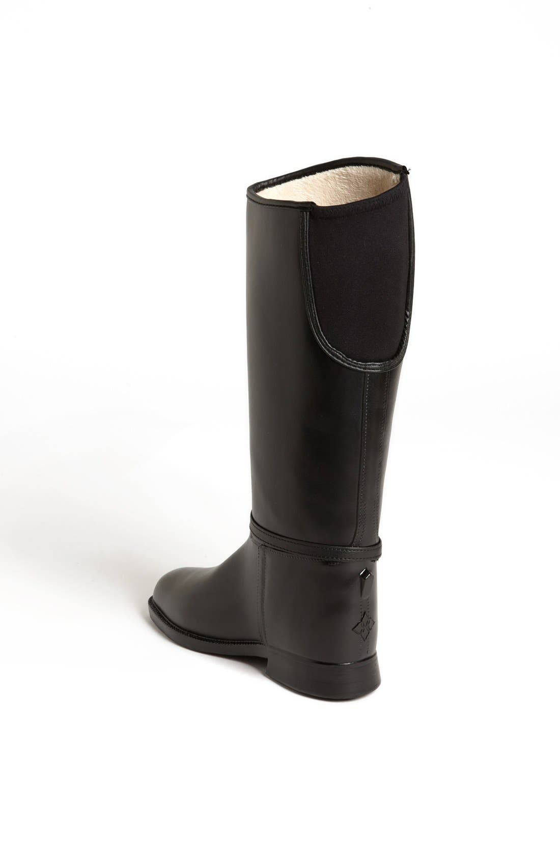 DÄV,                             Equestrian Tassel Waterproof Rain Boot,                             Alternate thumbnail 2, color,                             001