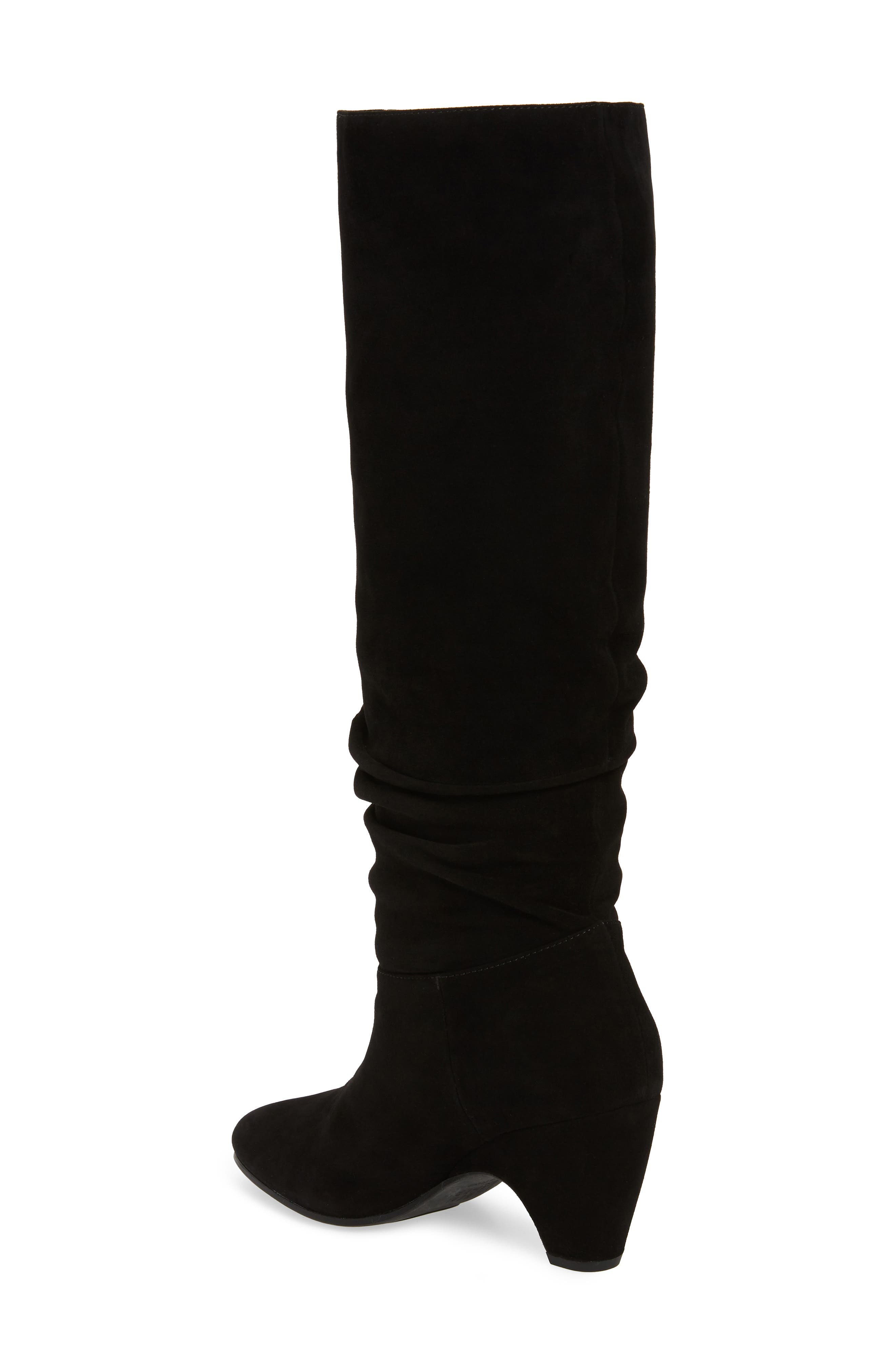 Ditto Knee High Boot,                             Alternate thumbnail 2, color,                             BLACK SUEDE