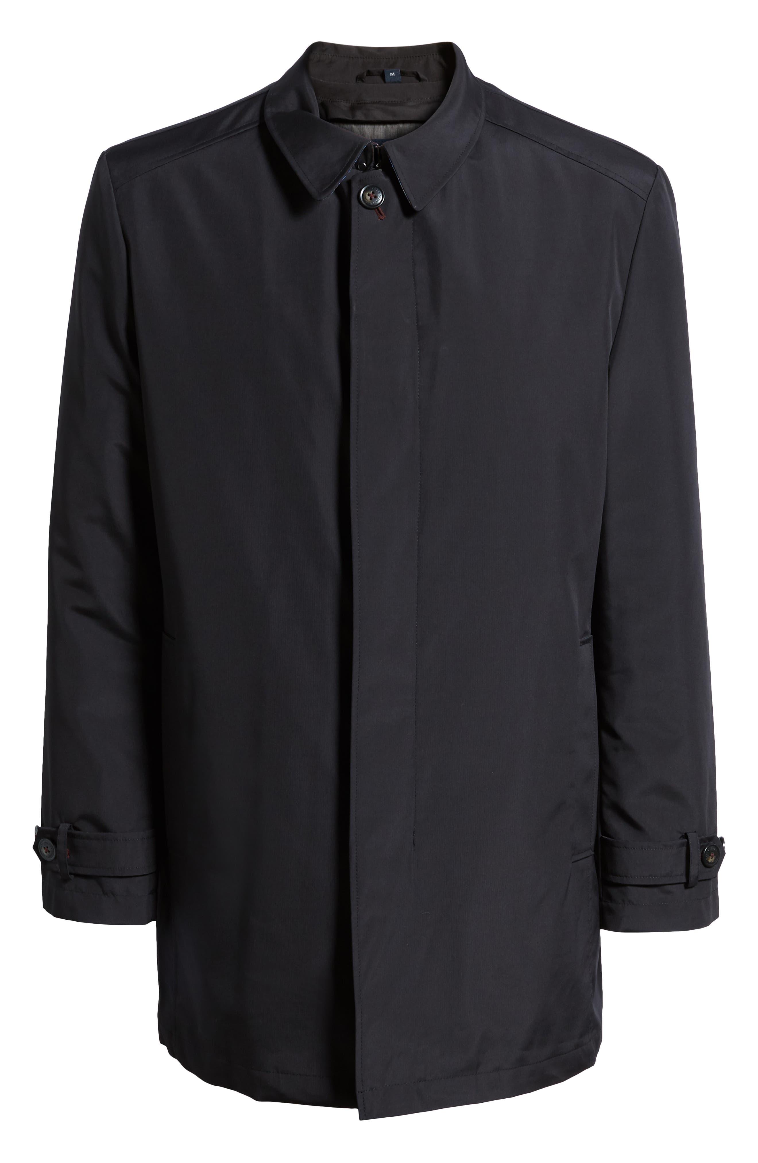 Rain-Down Rain Coat,                             Alternate thumbnail 6, color,                             BLACK