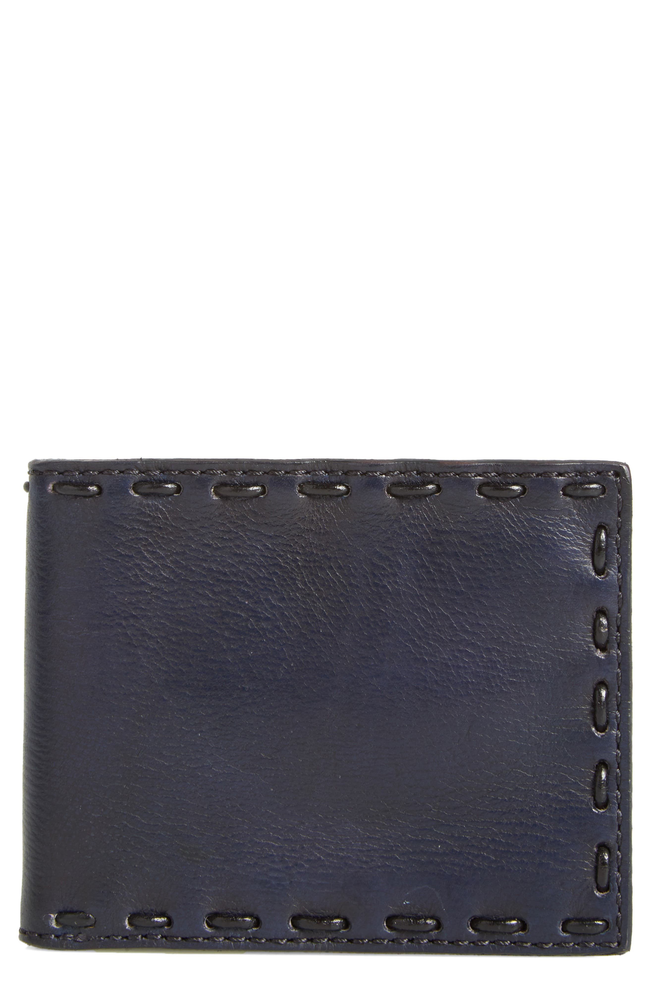 Pickstitch Leather Bifold Wallet,                             Main thumbnail 1, color,
