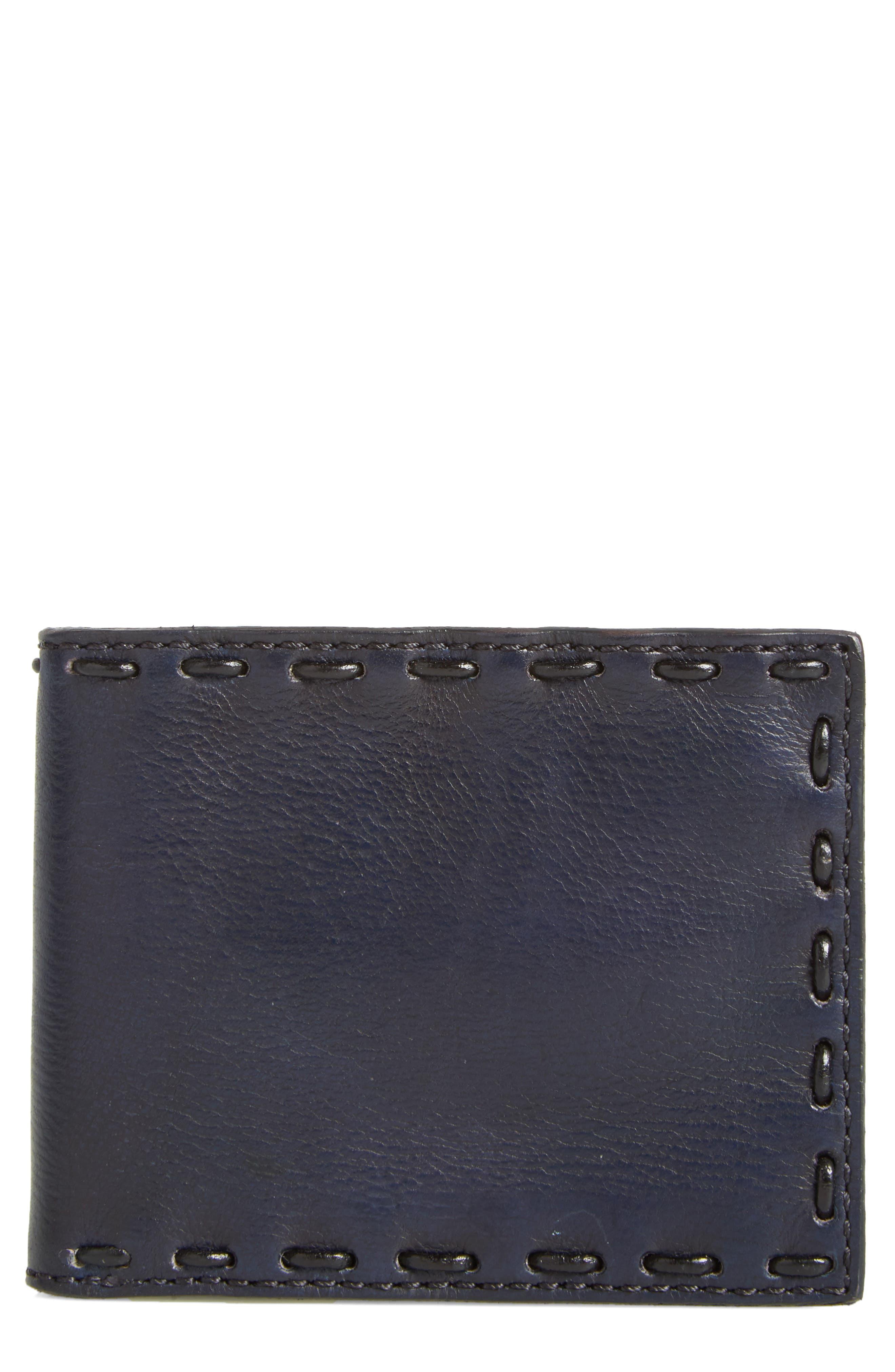 Pickstitch Leather Bifold Wallet,                         Main,                         color, 094