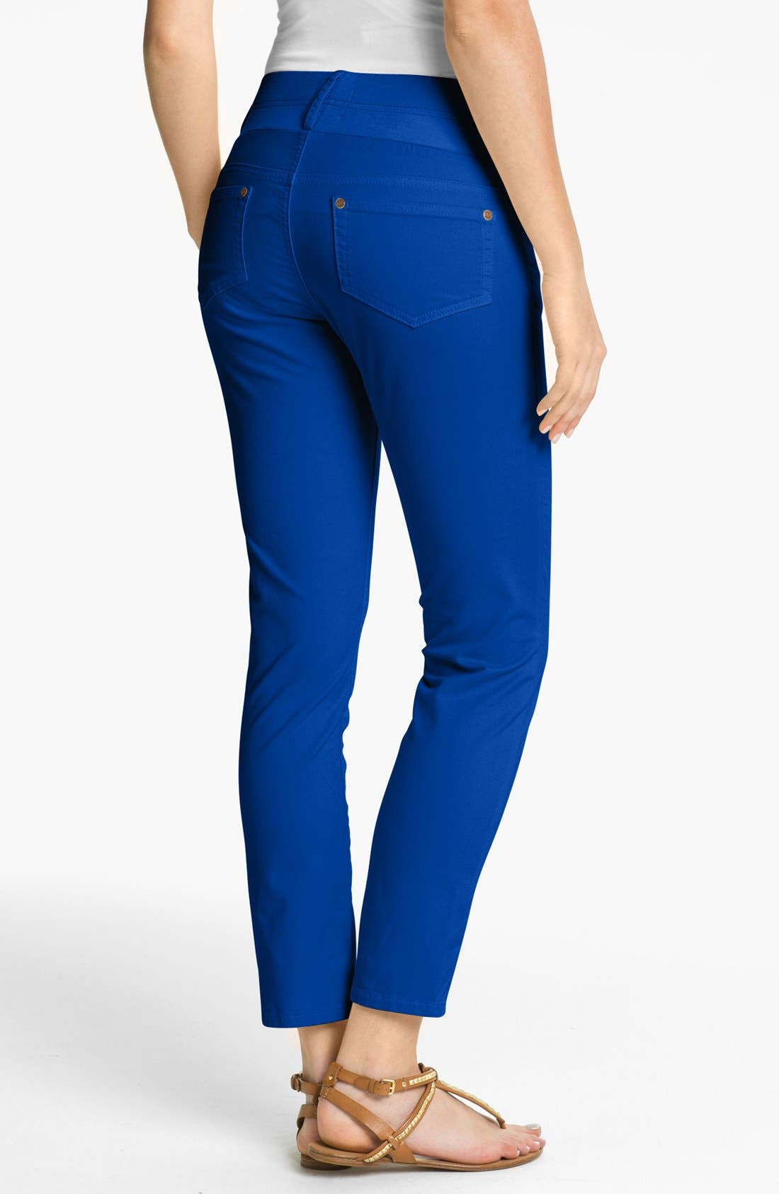 Maternity Skinny Ankle Stretch Jeans,                             Alternate thumbnail 2, color,                             ROYAL