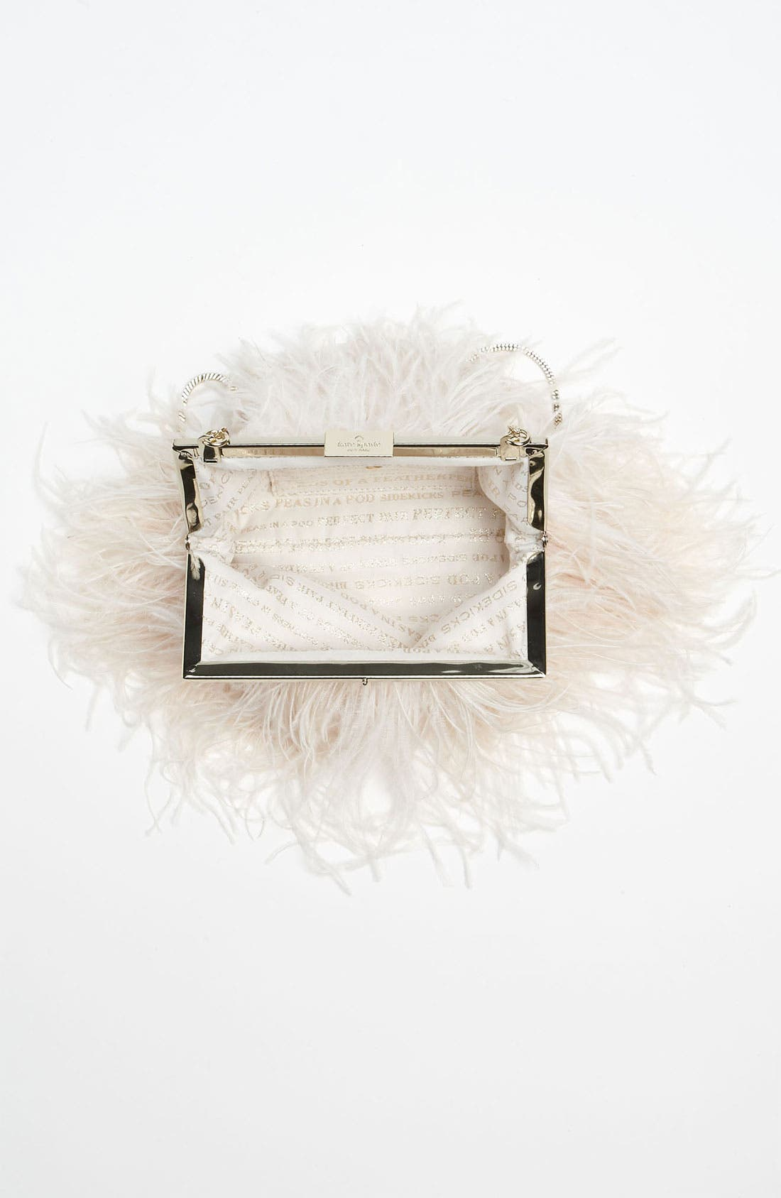 'belle elliana' feather clutch,                             Alternate thumbnail 6, color,