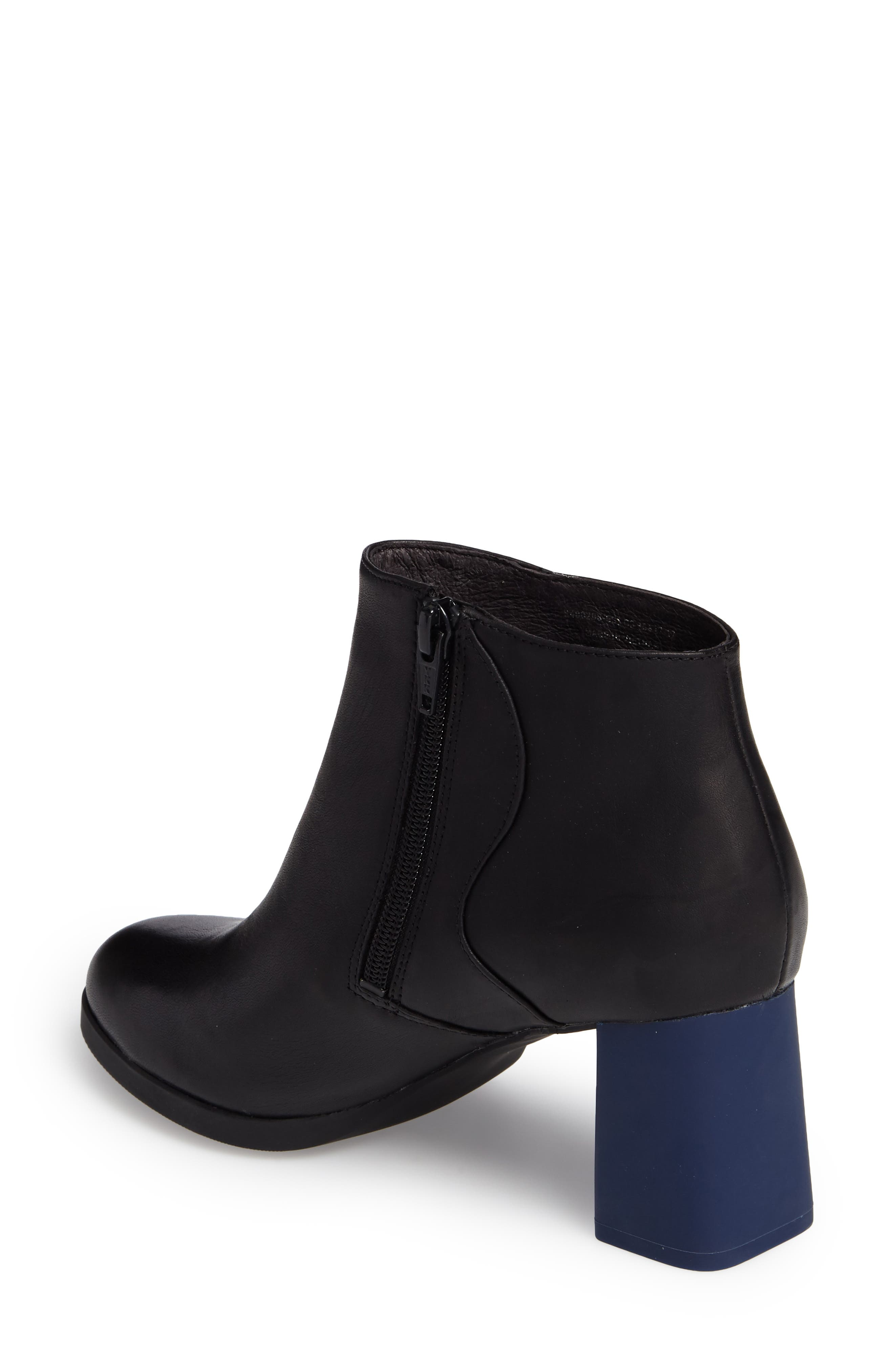 Kara Flared Heel Bootie,                             Alternate thumbnail 2, color,                             001
