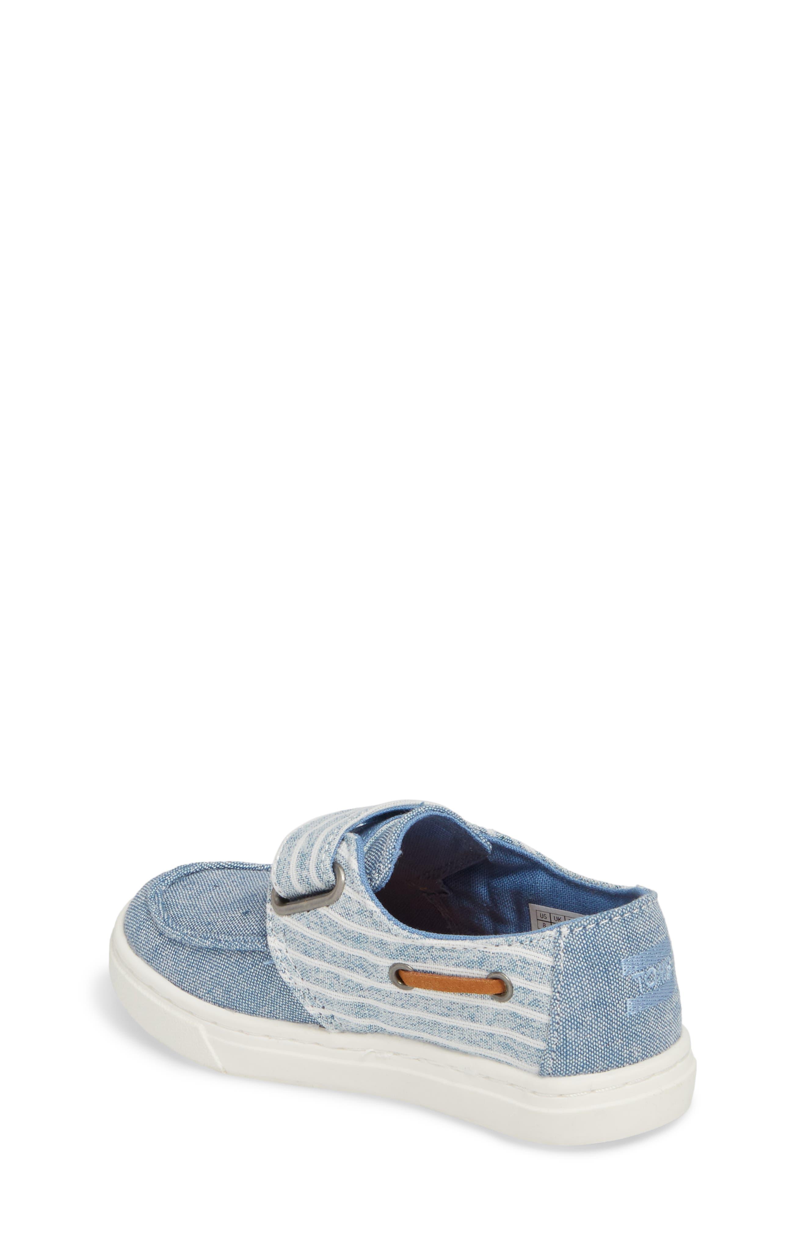 Culver Boat Shoe,                             Alternate thumbnail 2, color,                             BLUE CHAMBRAY/ STRIPE