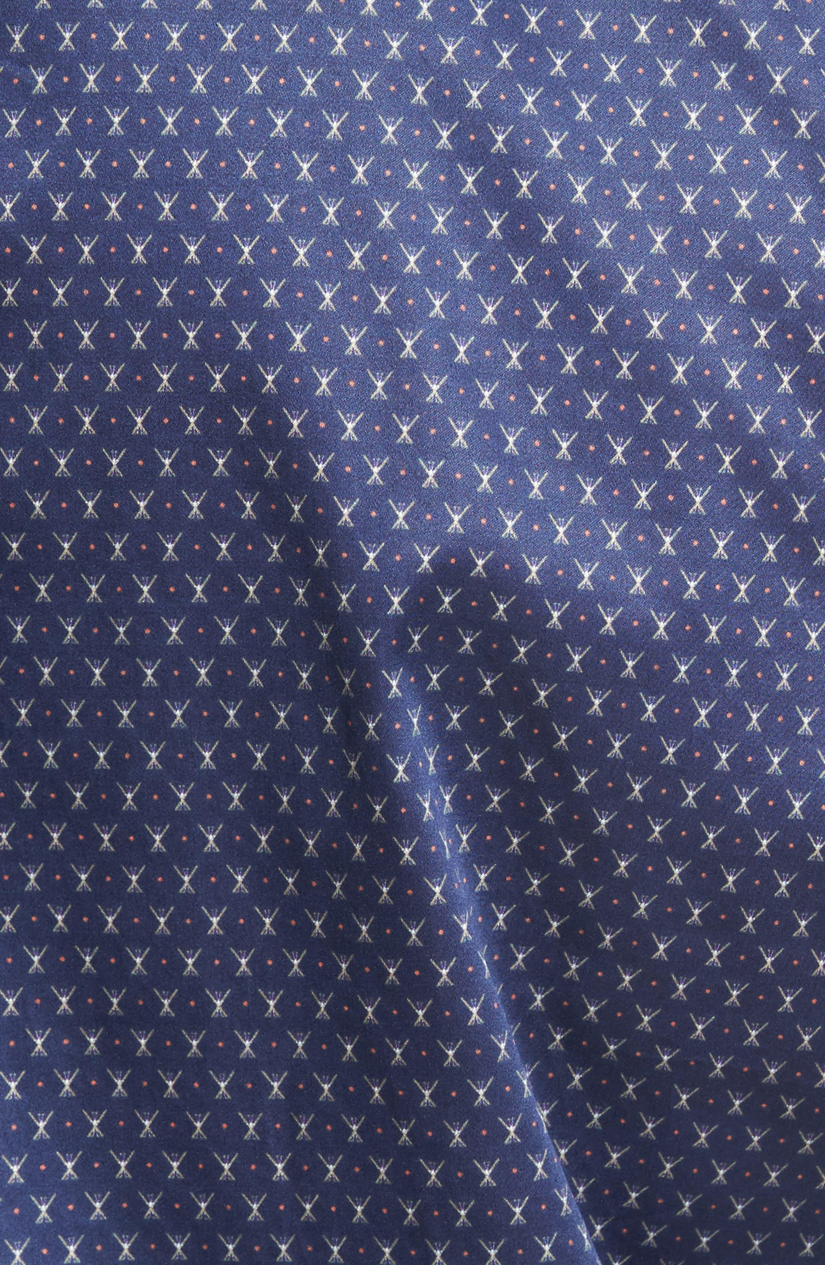 Cross Country Regular Fit Print Sport Shirt,                             Alternate thumbnail 5, color,                             424