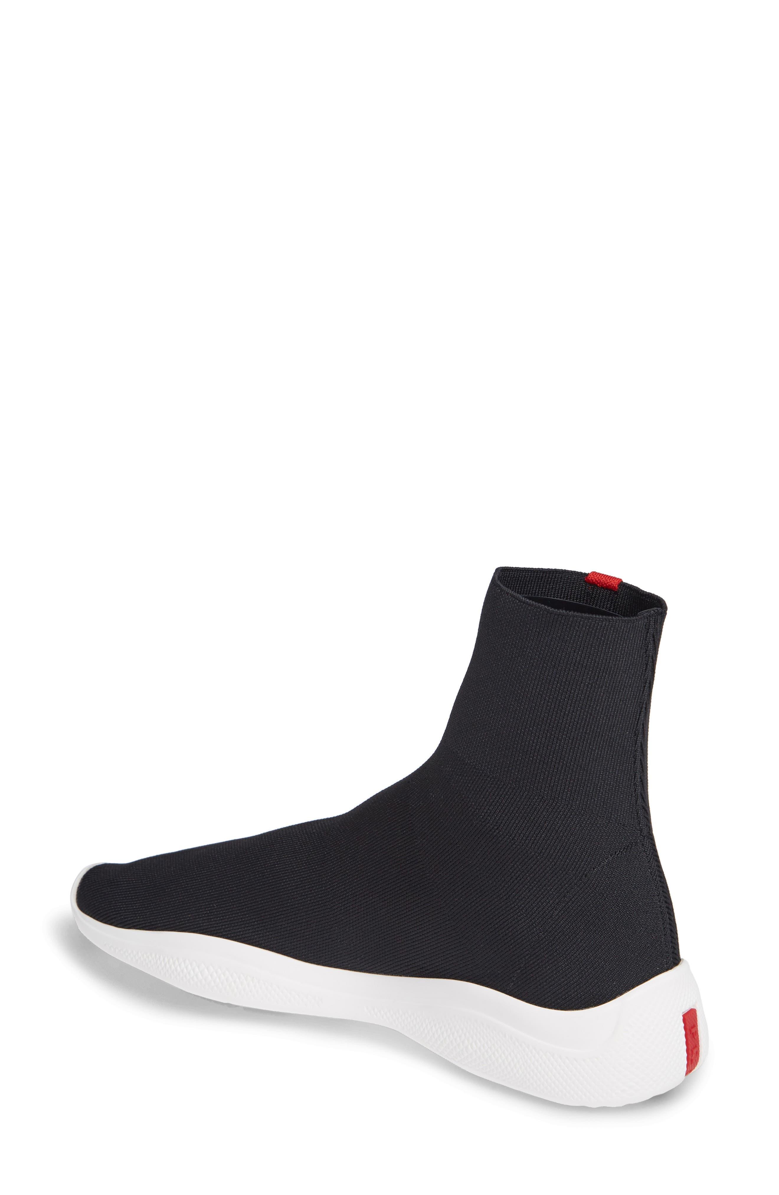 Logo Band Sock Sneaker,                             Alternate thumbnail 2, color,                             BLACK