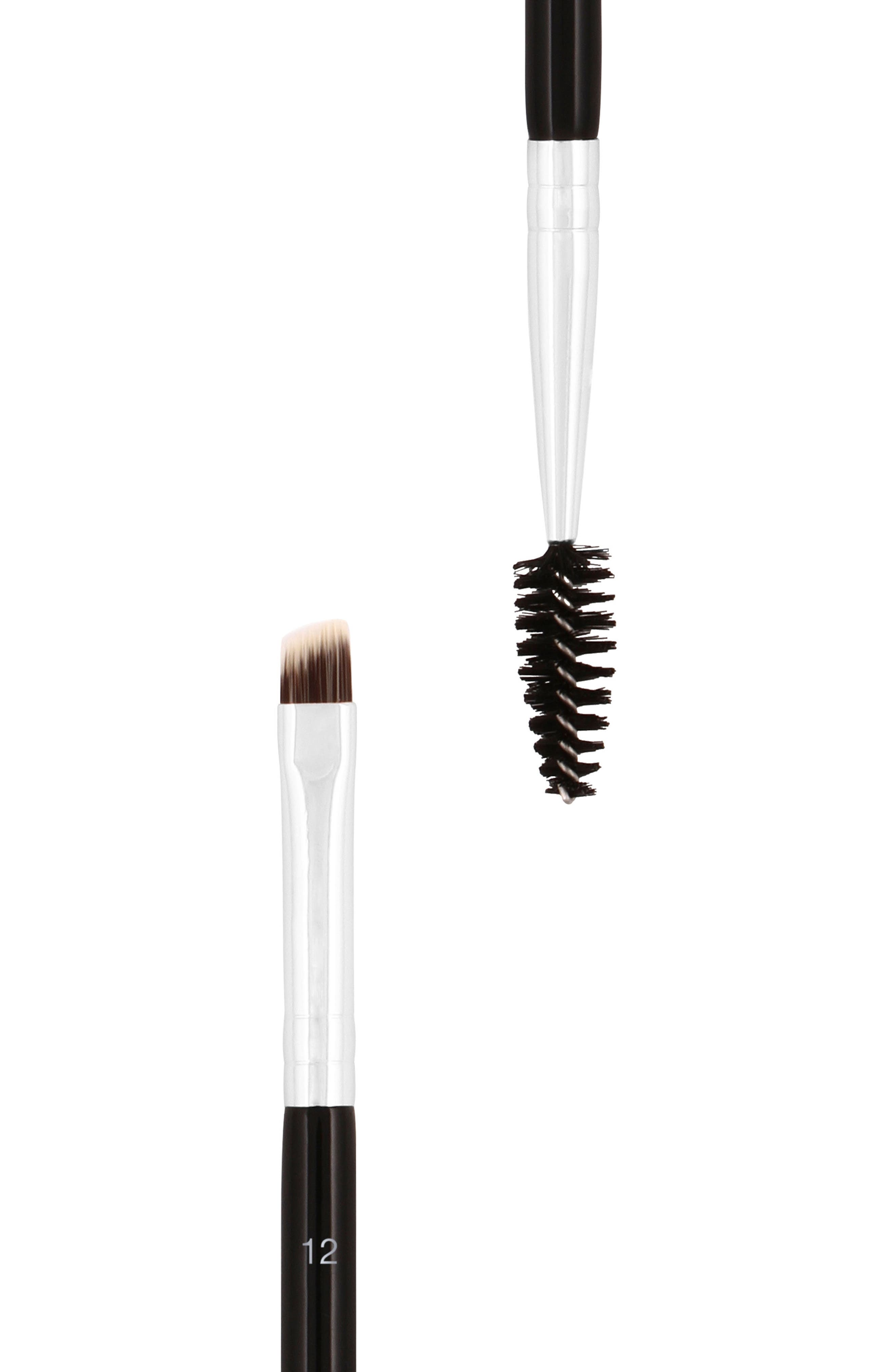 #12 Large Synthetic Duo Brow Brush,                             Alternate thumbnail 3, color,                             NO COLOR