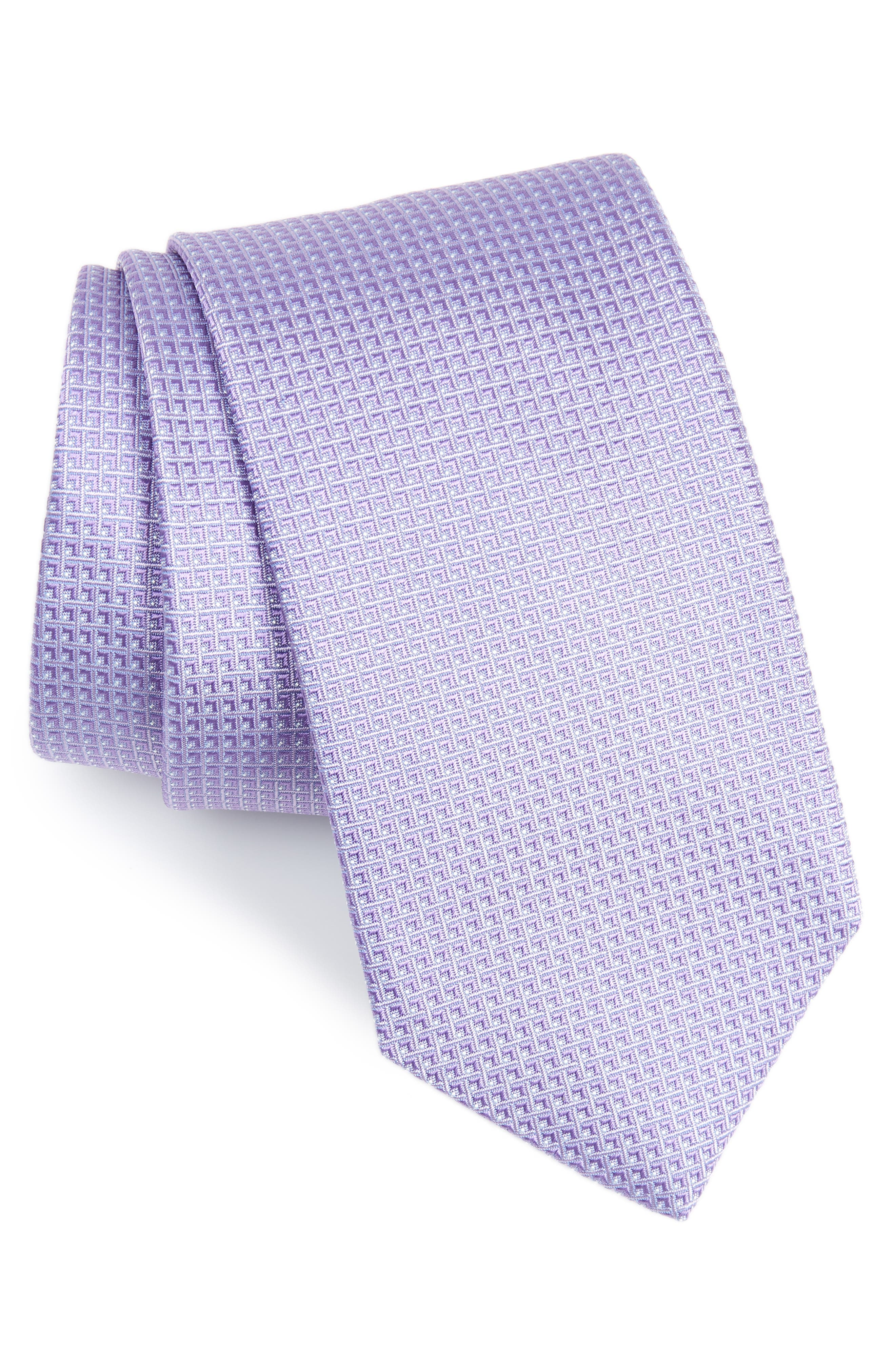 Solid Silk Tie,                             Main thumbnail 1, color,                             LILAC