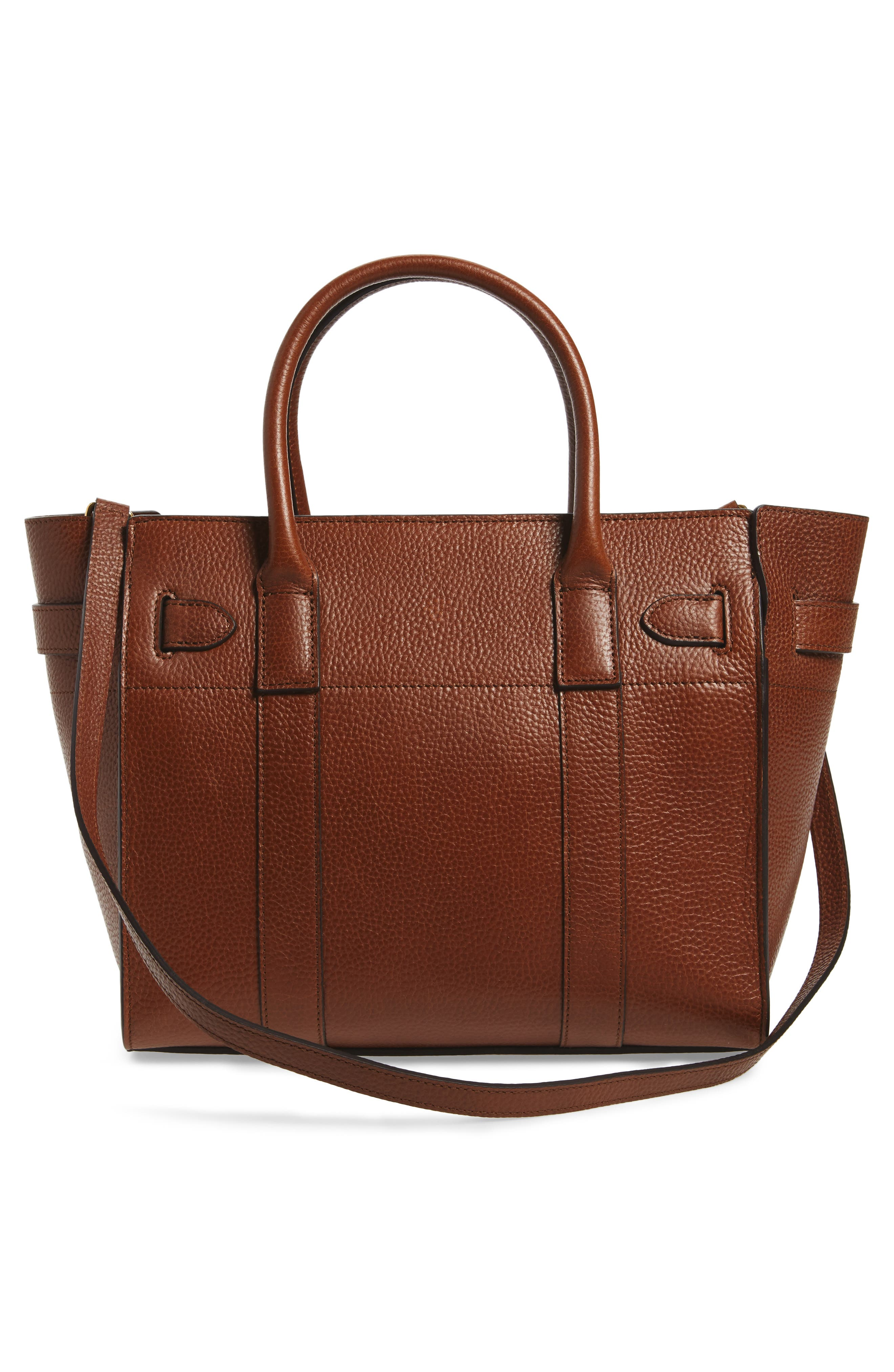 Small Bayswater Leather Satchel,                             Alternate thumbnail 3, color,                             201